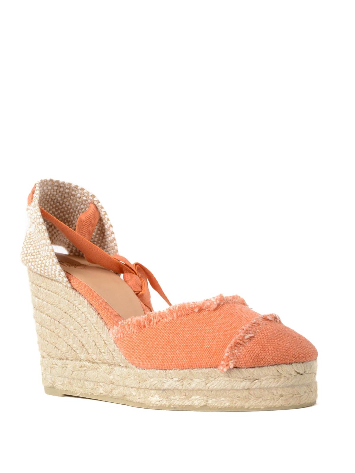 6e0b4c0c869 Castaner - Catalina orange wedge espadrilles - espadrilles ...