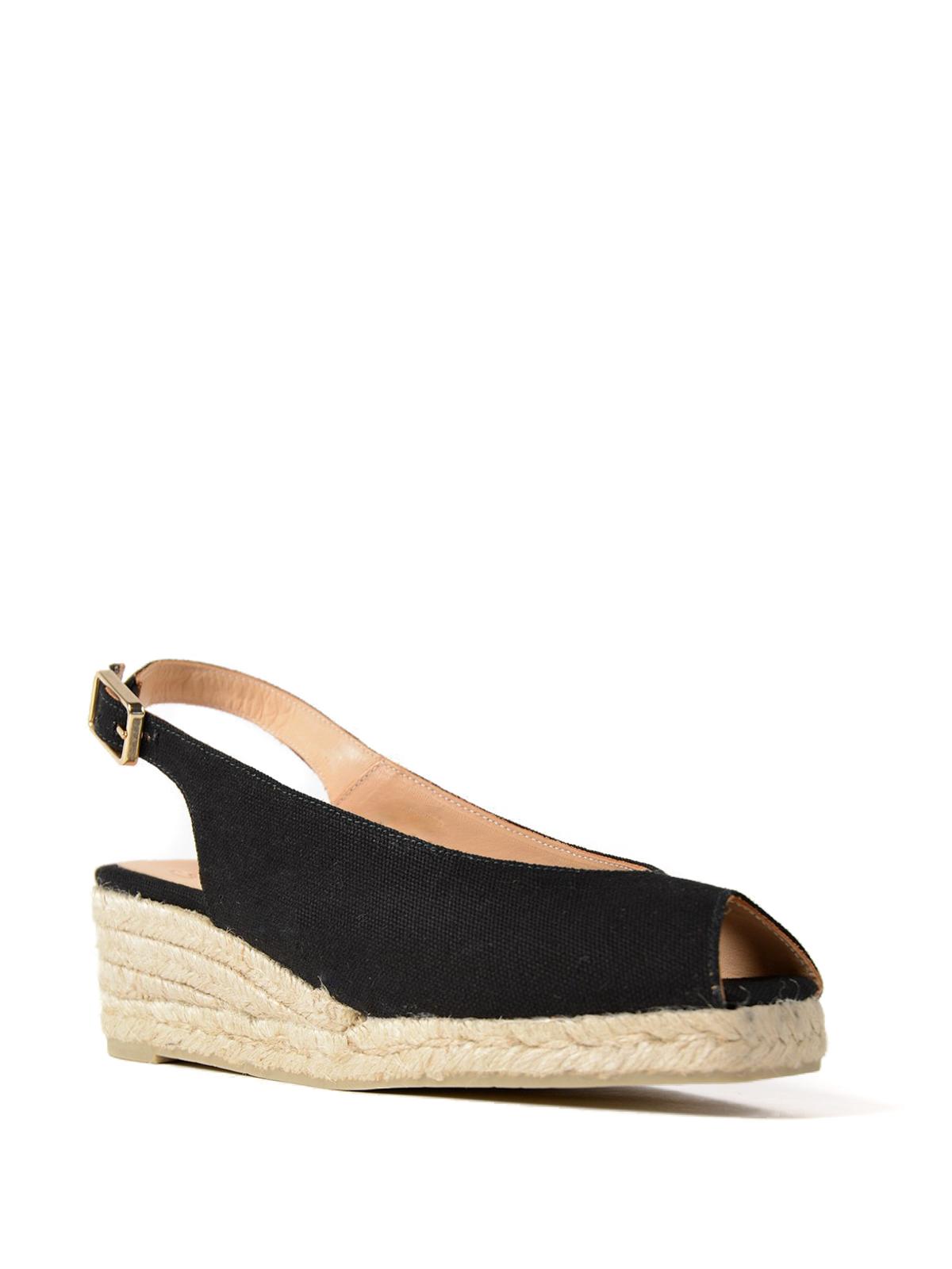 d84c2ddf2c7 CASTANER  espadrilles online - Dosalia black peep-toe espadrilles