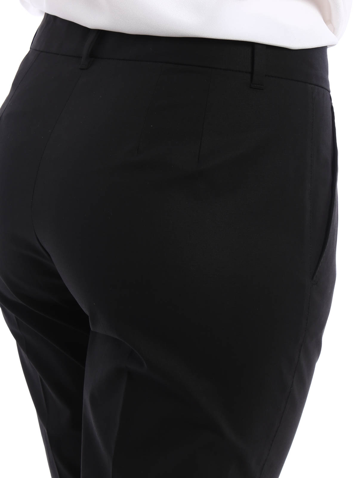 Innovative Emanuel Ungaro Stretchcotton Cigarette Pants In White  Lyst