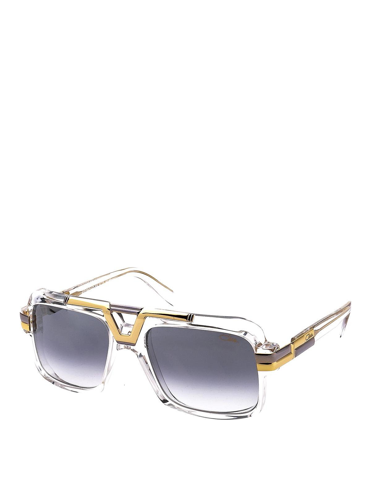 Cazal Gold-tone Detailed Transparent Sunglasses