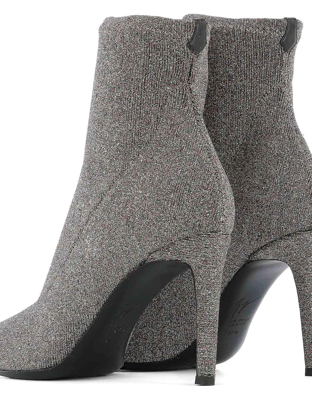 Booties Ankle Celeste Boots Zanotti Fabric Glittered Giuseppe n17qg7