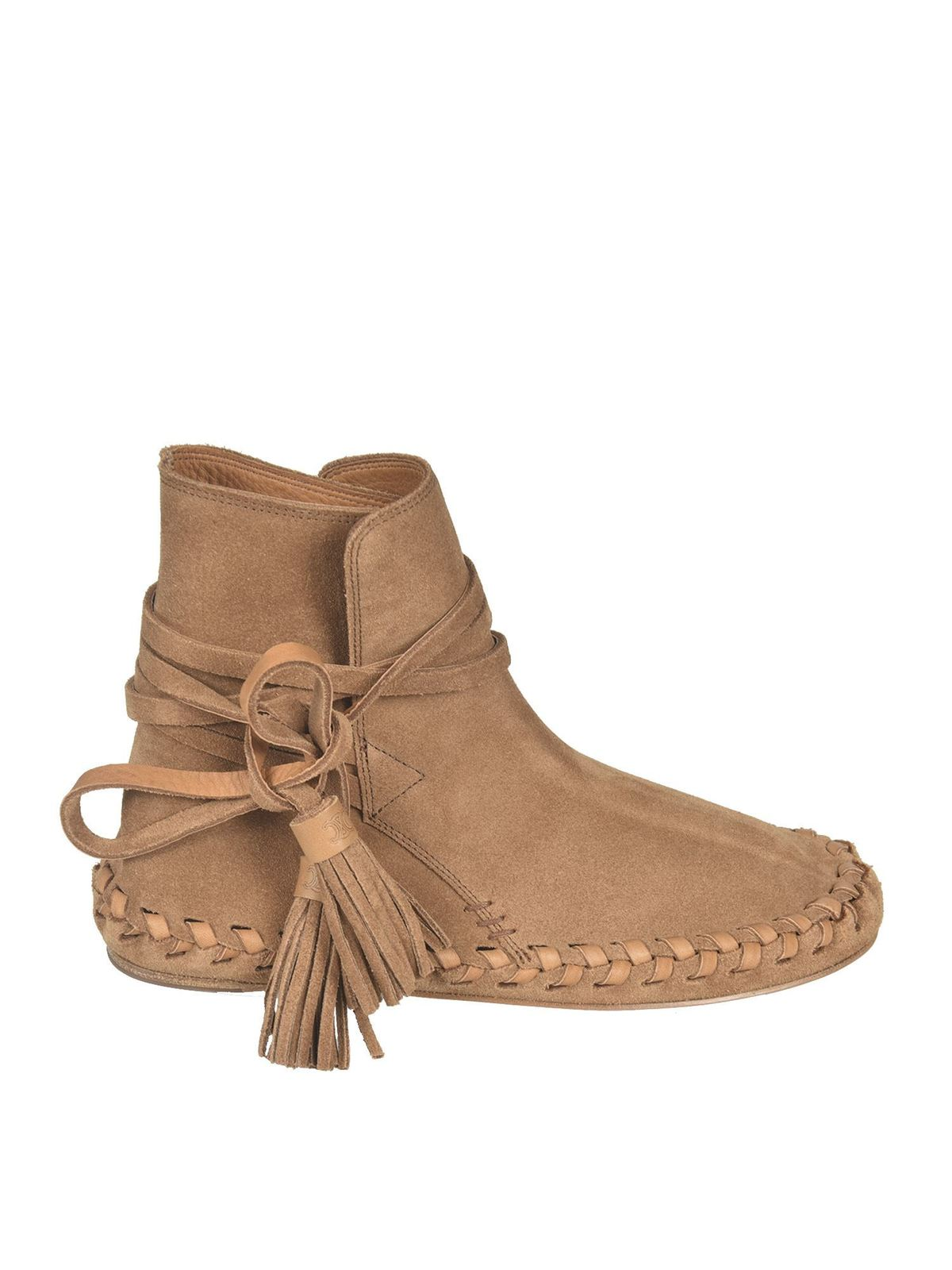 Celine MARLOU ANKLE BOOTS IN BROWN