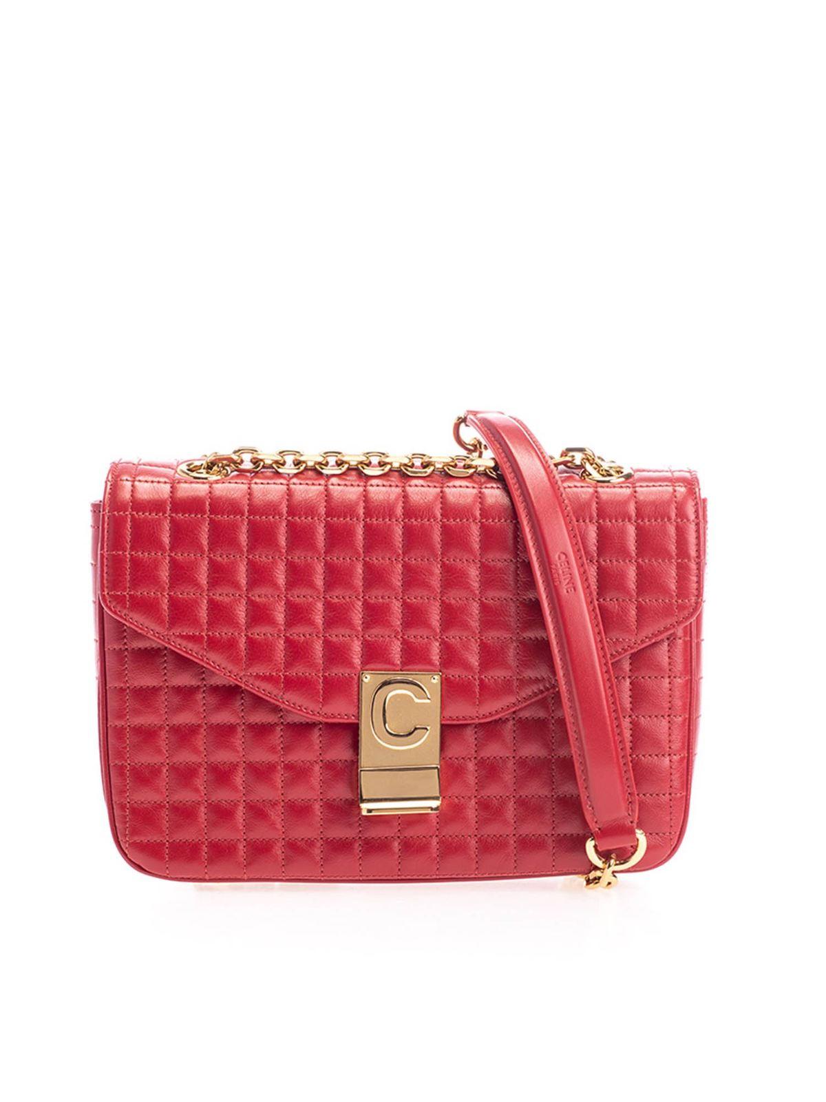 Celine MEDIUM C BAG IN RED