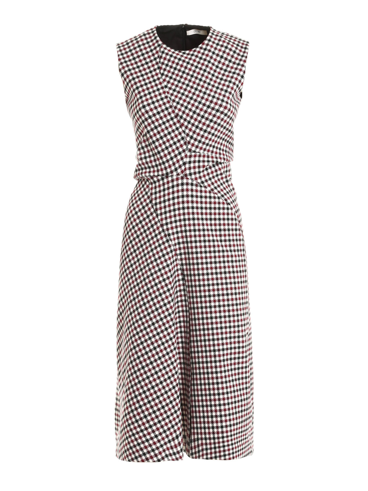 free shipping 1c1ff a77d0 Céline - Abito mini in cotone a quadretti - abiti lunghi ...