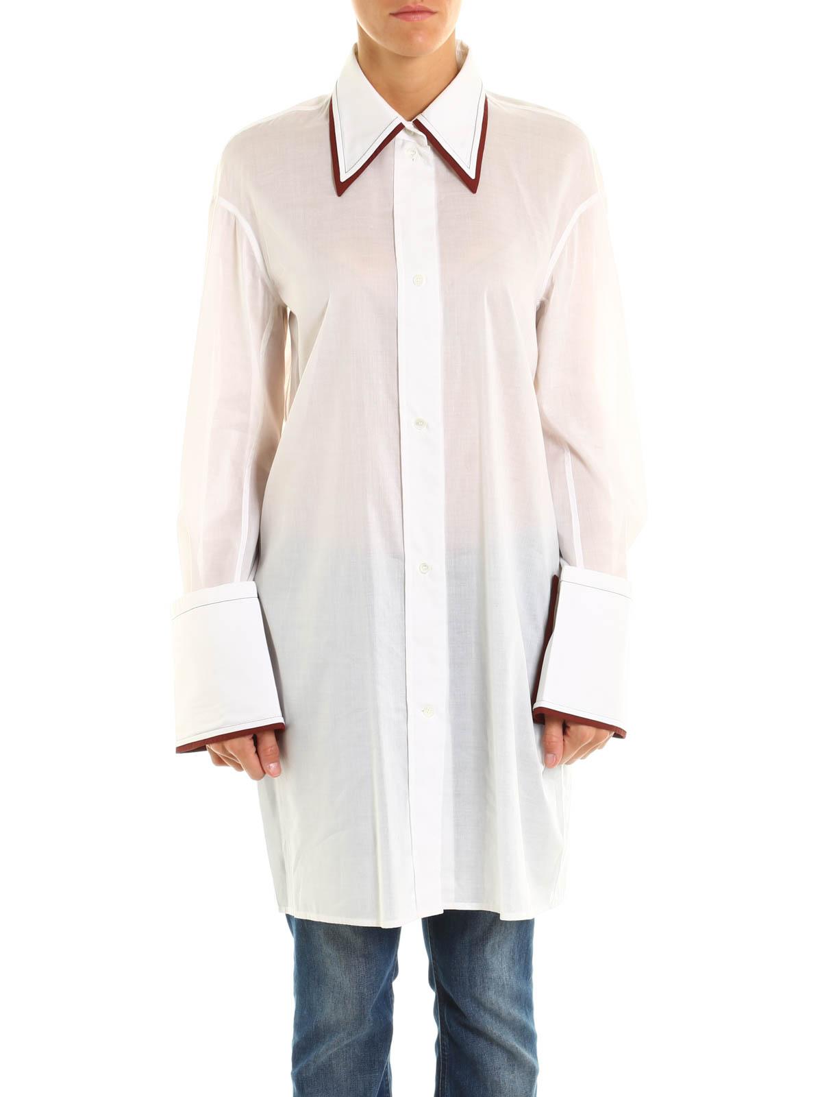 Céline - Camisa Blanca Para Mujer - Camisas - 20BW35580.01WO  656c096310ce4