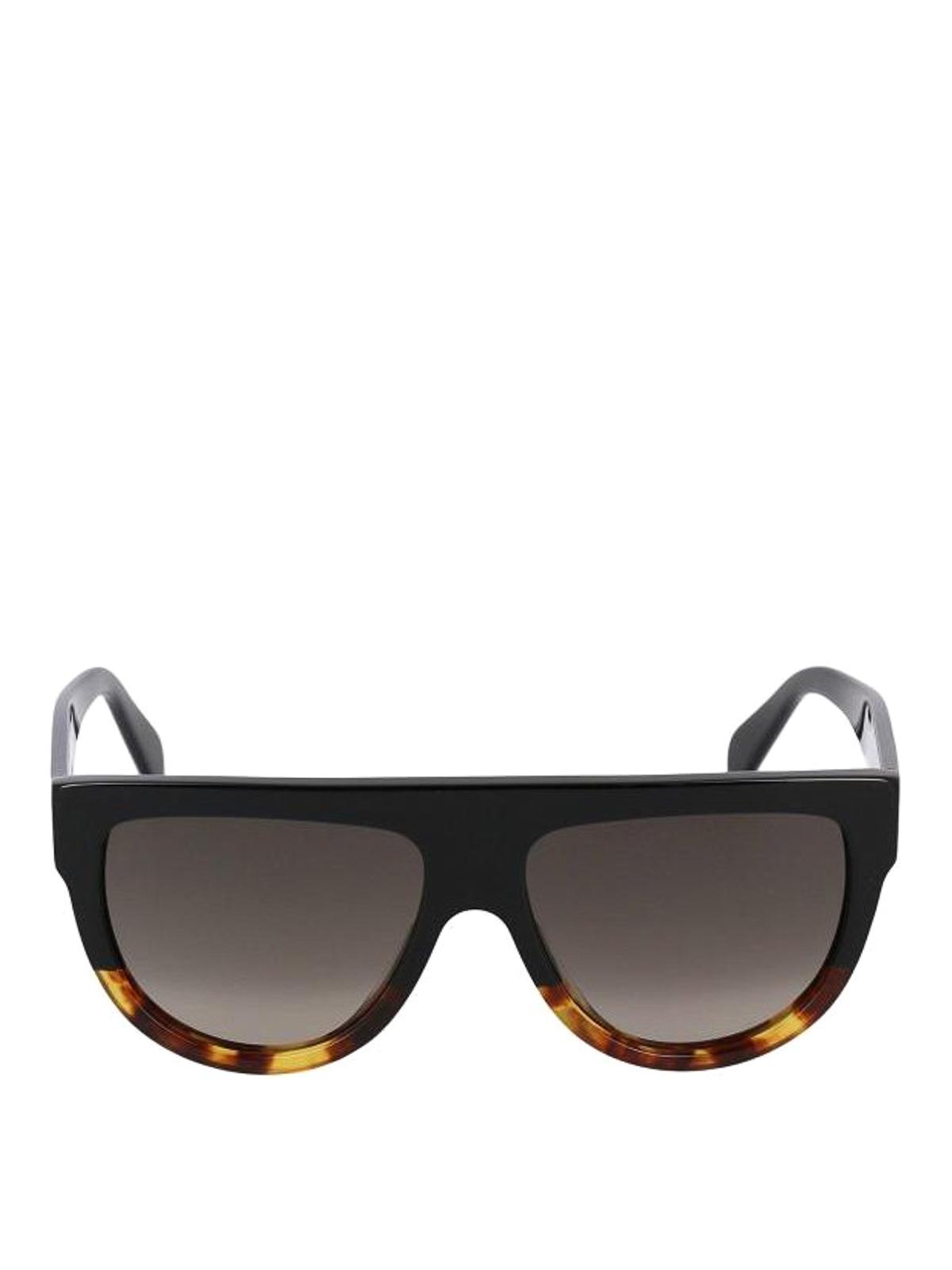 f976304569 Celine Black Acetate Aviator Sunglasses