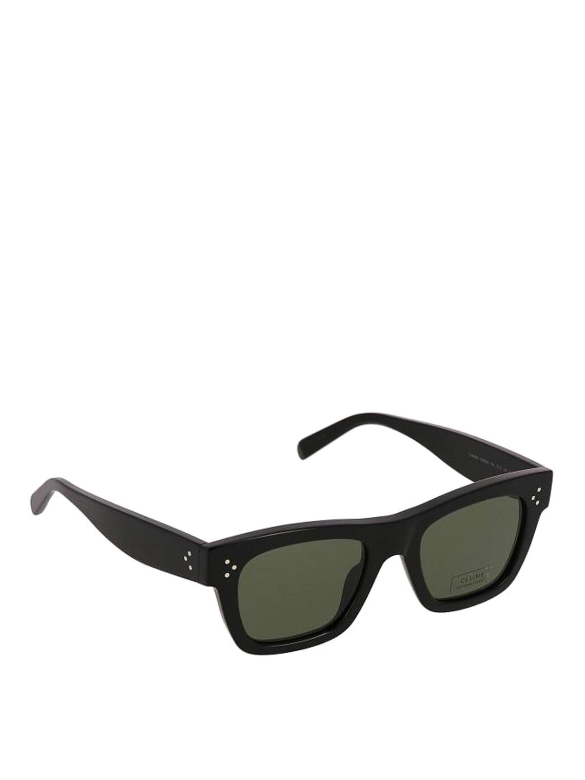 C line occhiali da sole neri rettangolari occhiali da for Occhiali neri da sole