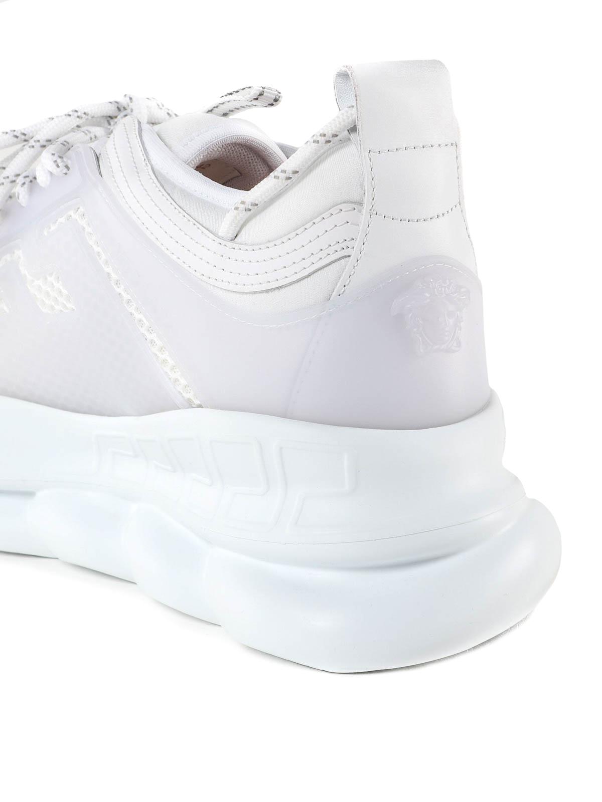Versace - Sneaker Chain Reaction bianche con suola alta ...