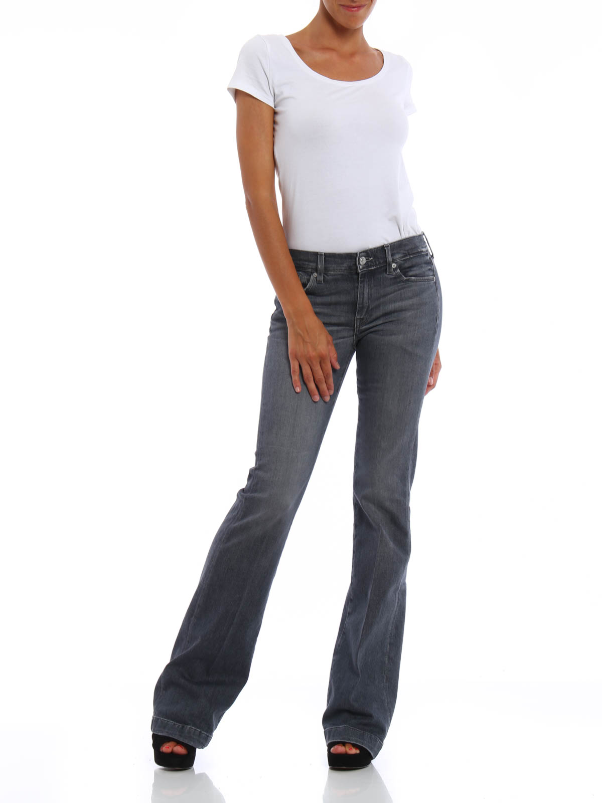 charlize bootcut jeans by 7 for all mankind bootcut. Black Bedroom Furniture Sets. Home Design Ideas