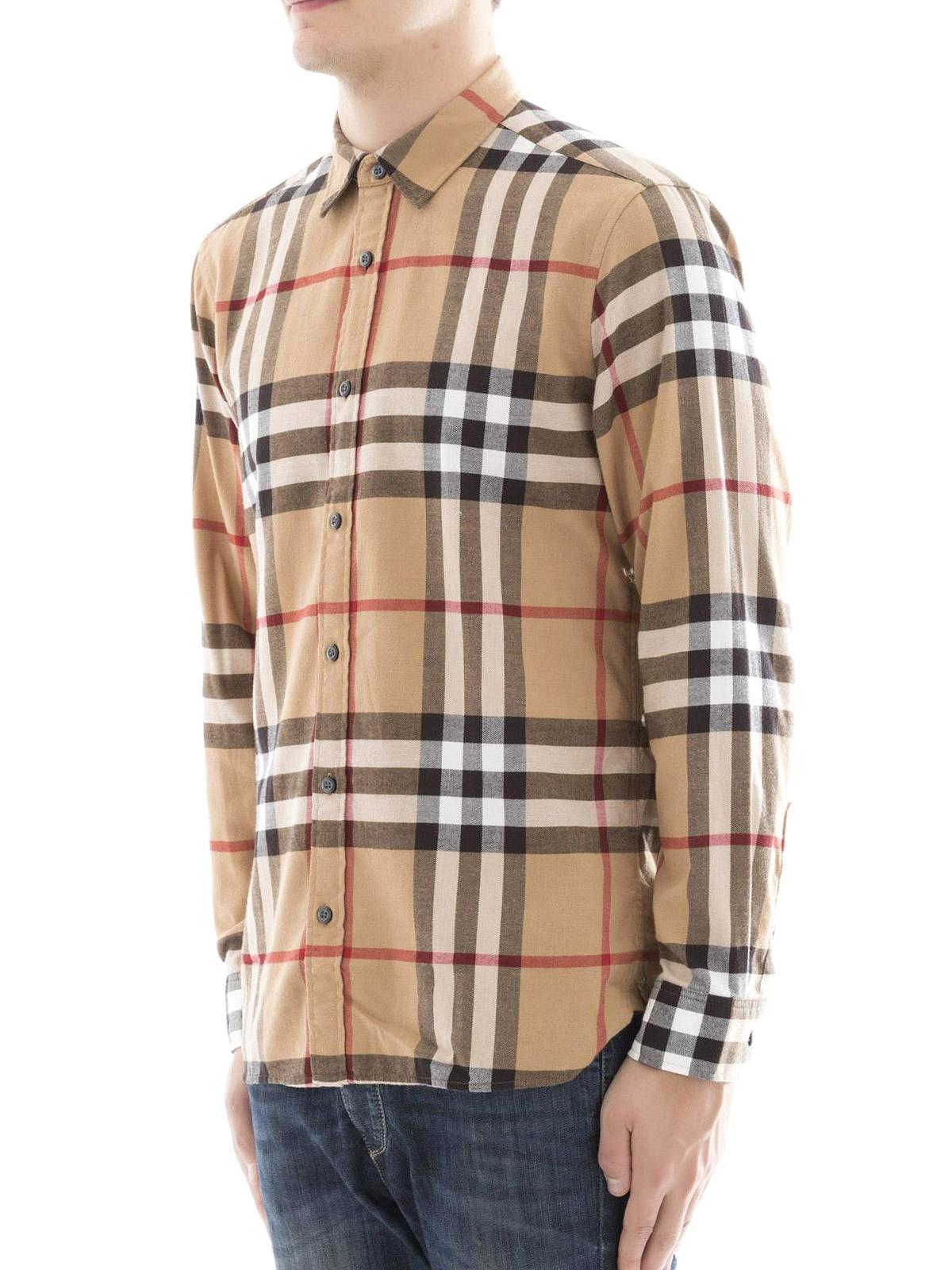 2ce768bb4c Burberry - Camicia in flanella motivo tartan - camicie - 4059128