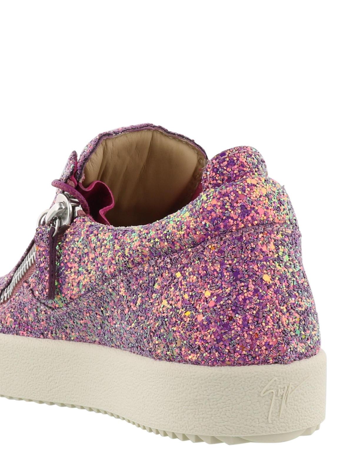 2e39613652be8 Giuseppe Zanotti - Cheryl Glitter purple sneakers - trainers ...