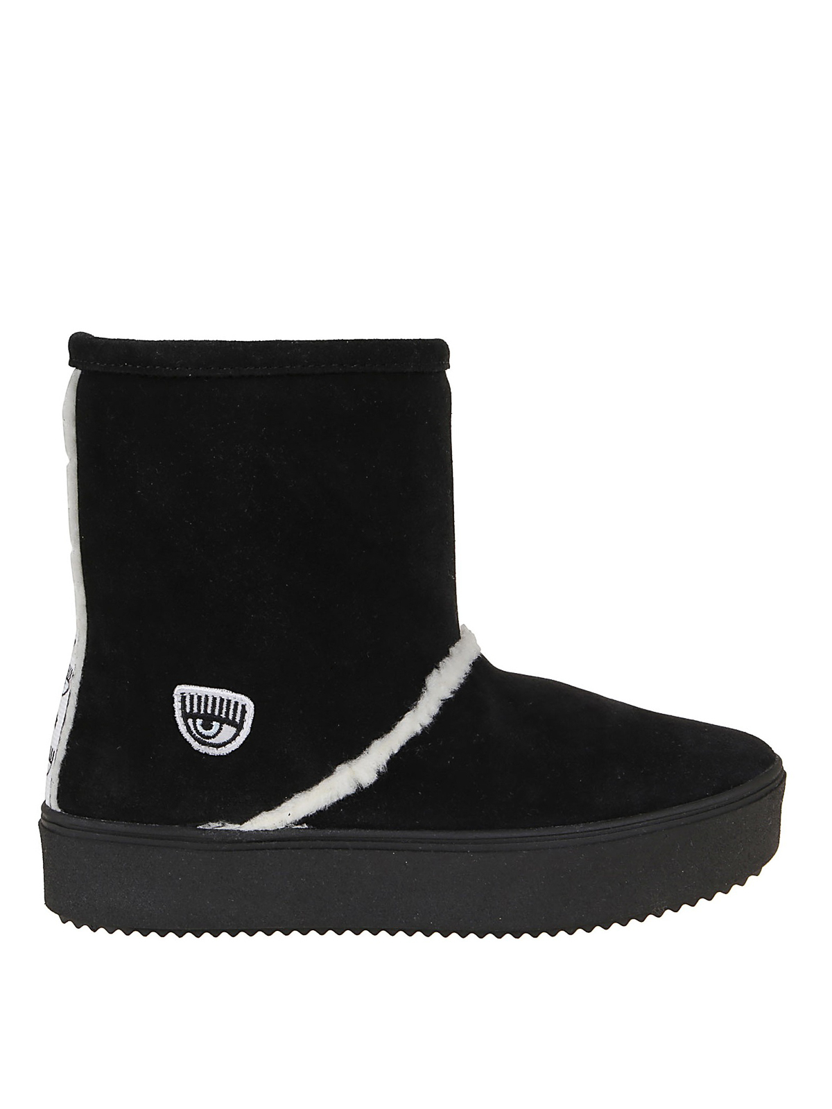 Chiara Ferragni SUEDE BOOT WITH LOGO BAND
