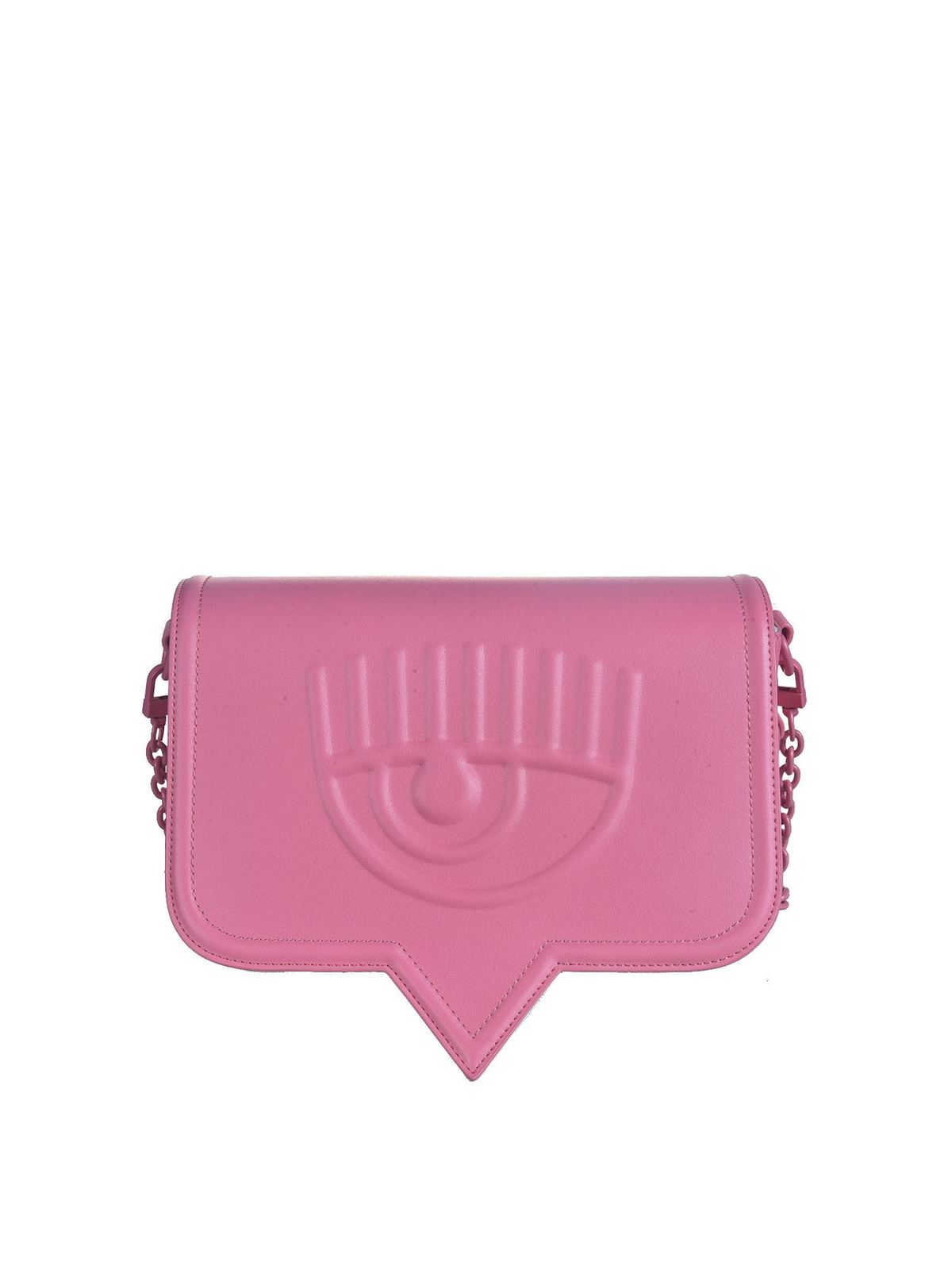 Chiara Ferragni EYELIKE BIG SHOULDER BAG IN PINK
