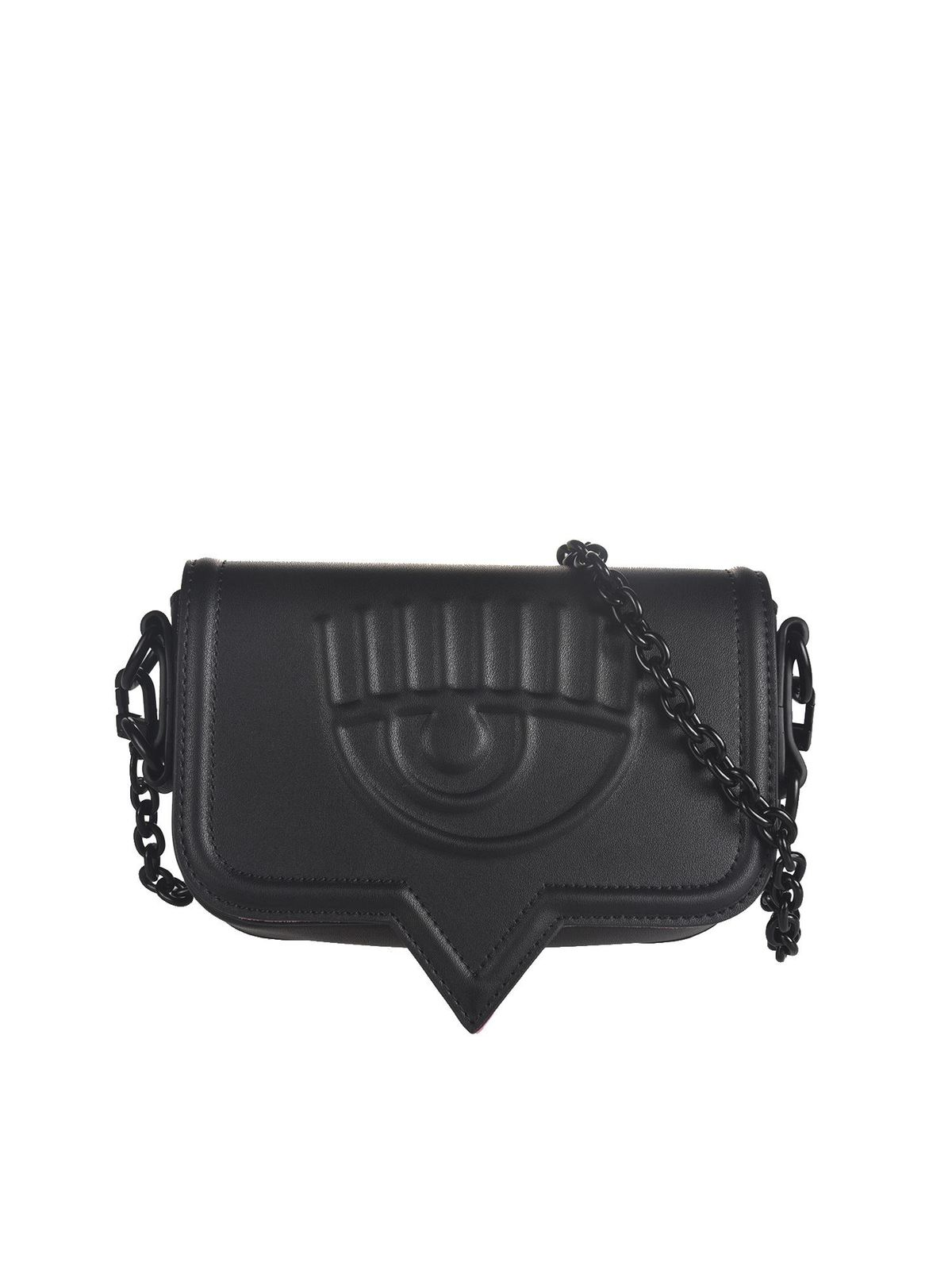 Chiara Ferragni EYELIKE SMALL SHOULDER BAG IN BLACK