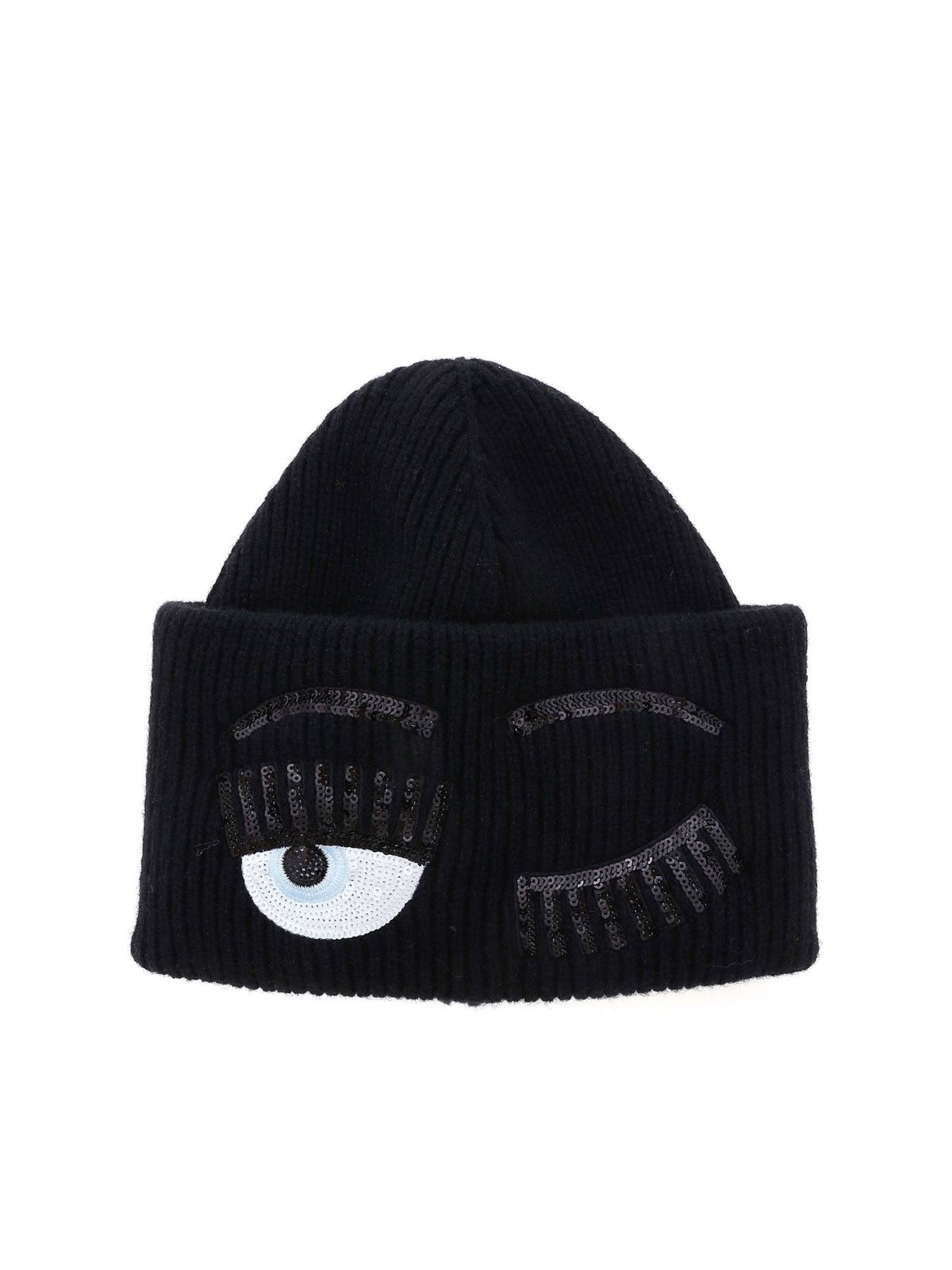 Chiara Ferragni FLIRTING BEANIE IN BLACK