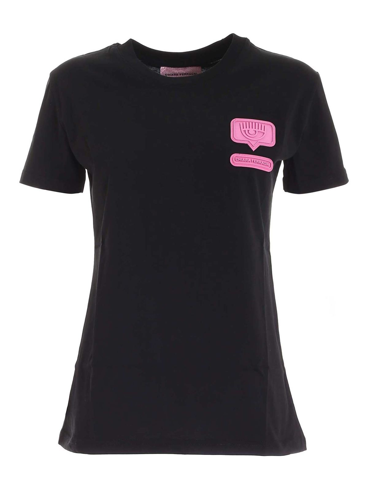 Chiara Ferragni EYELIKE T-SHIRT IN BLACK