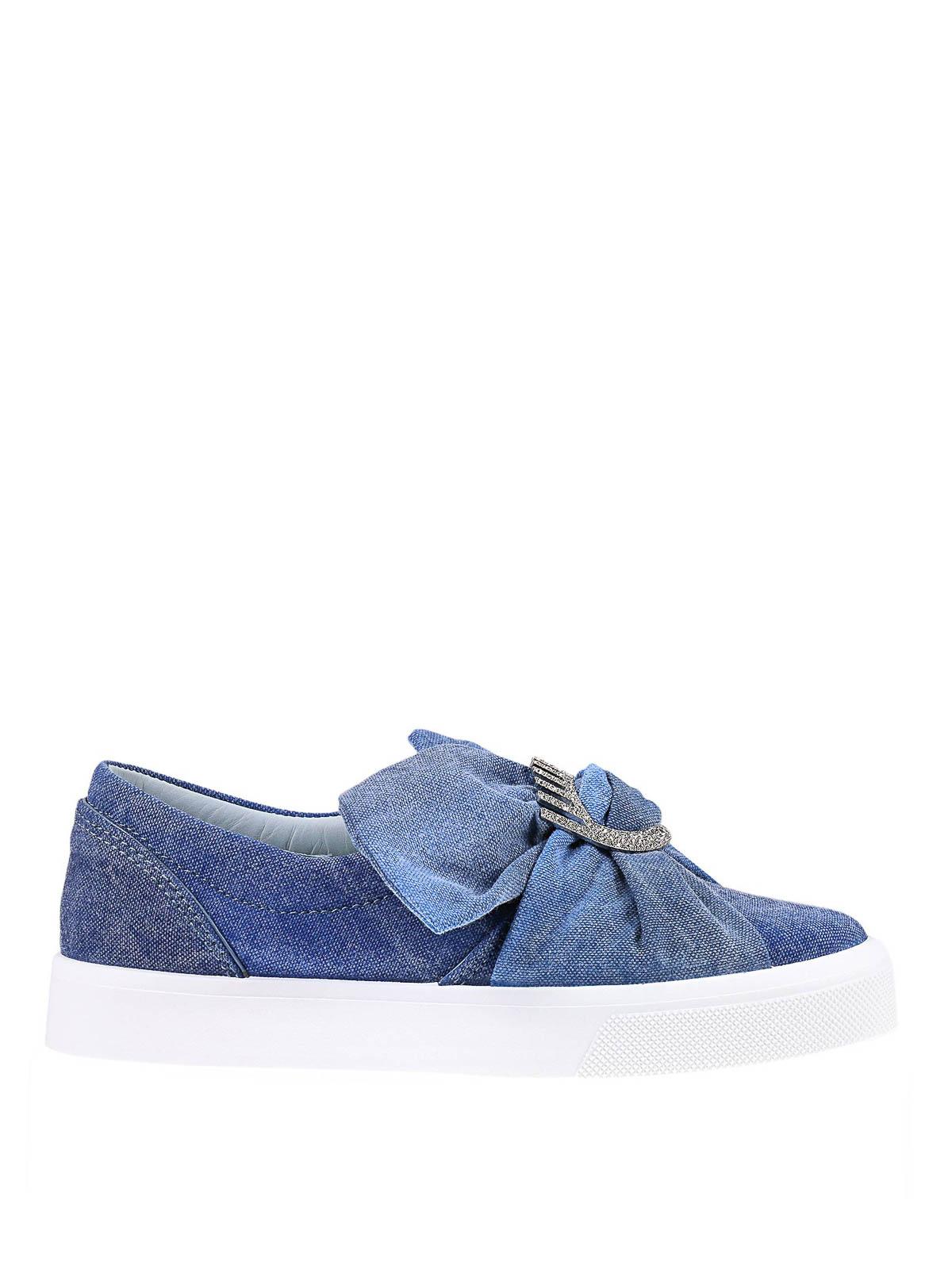 8281d205ac Chiara Ferragni - Slip-on in denim con fiocco - sneakers - CF1558