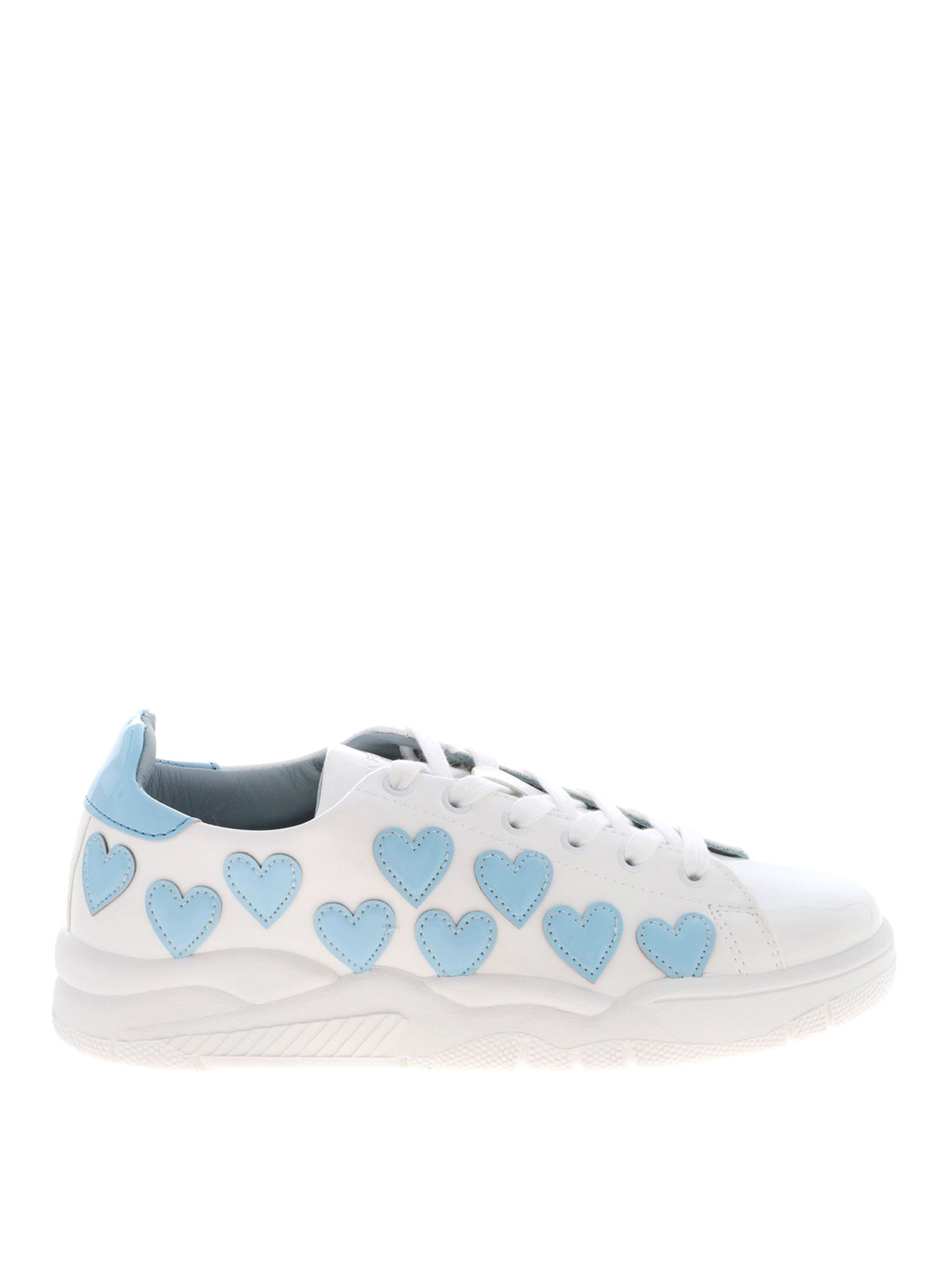 Chiara Ferragni Roger Heart Patch Sneakers In White