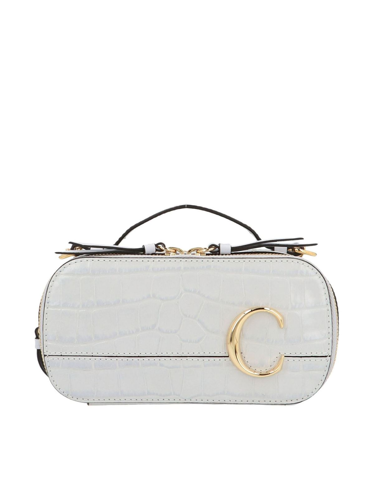 Chloé CHLOE C MINI CROSSBODY BAG IN LIGHT CLOUD