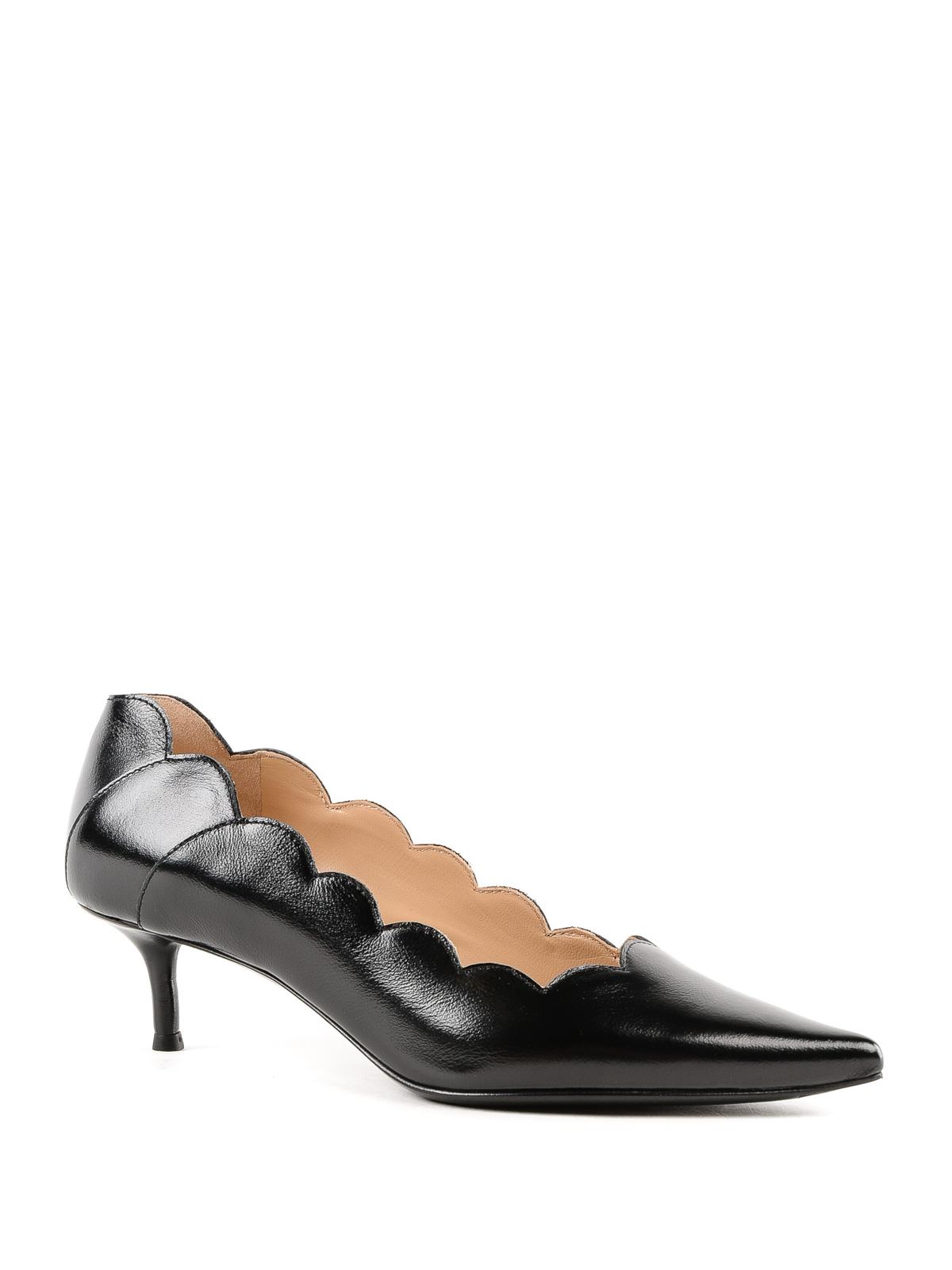 9cd507bb0025 Lauren polished leather scalloped pumps shop online  CHLOE · CHLOE · CHLOE  · CHLOE