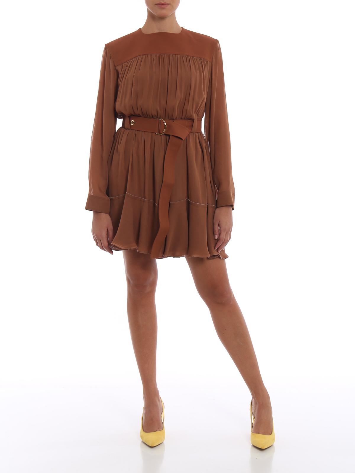 8e5f8c960682b Chloe  - Vestido Corto - Marrón Claro - Vestidos cortos ...
