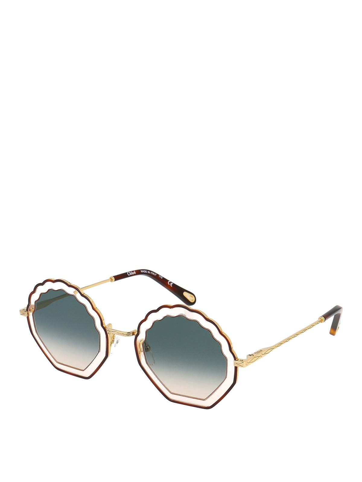 Chloé Sunglasses SCALLOPED GRADIENT LENS SUNGLASSES