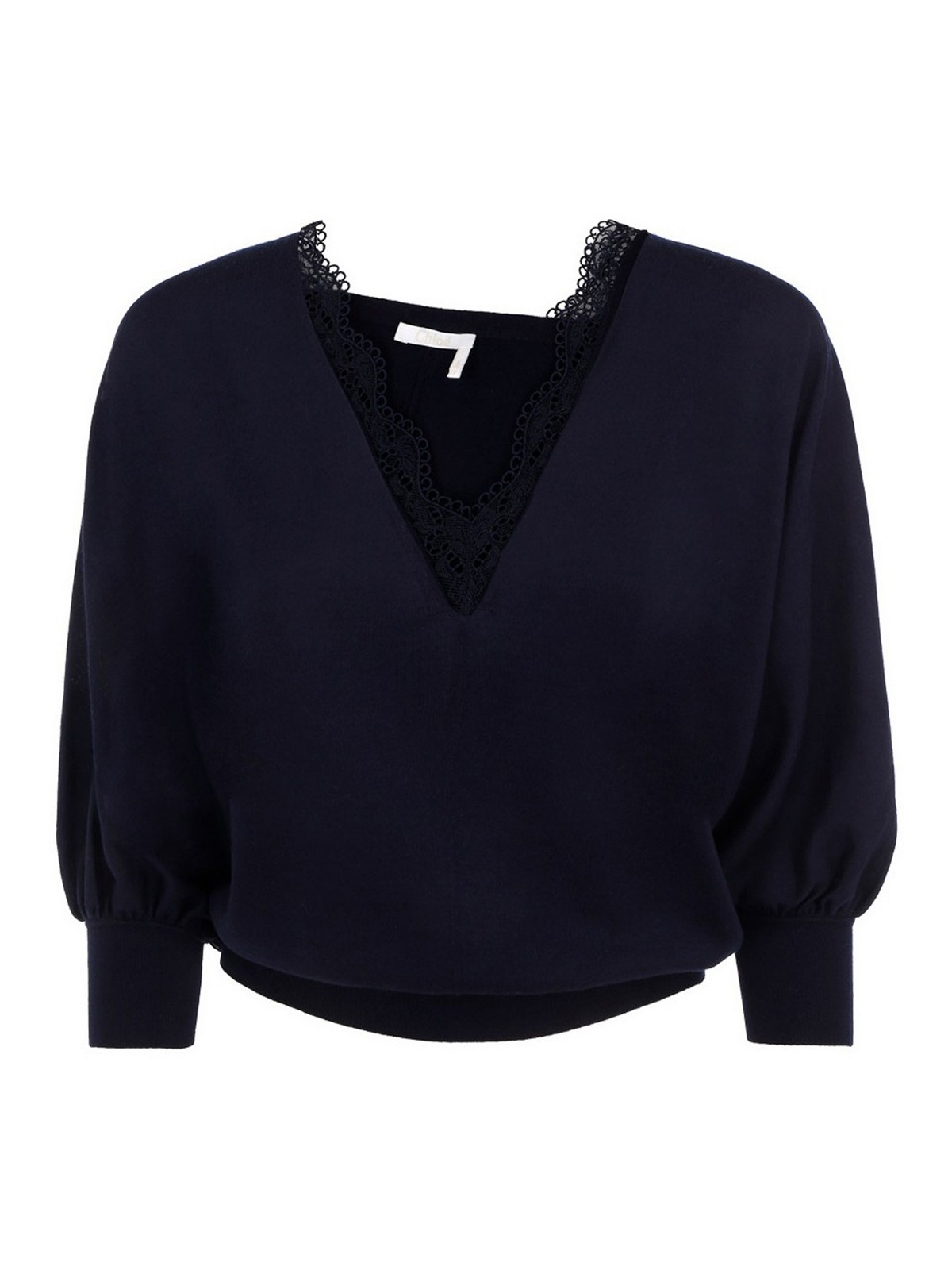 Chloé LACE DETAIL WOOL SWEATER
