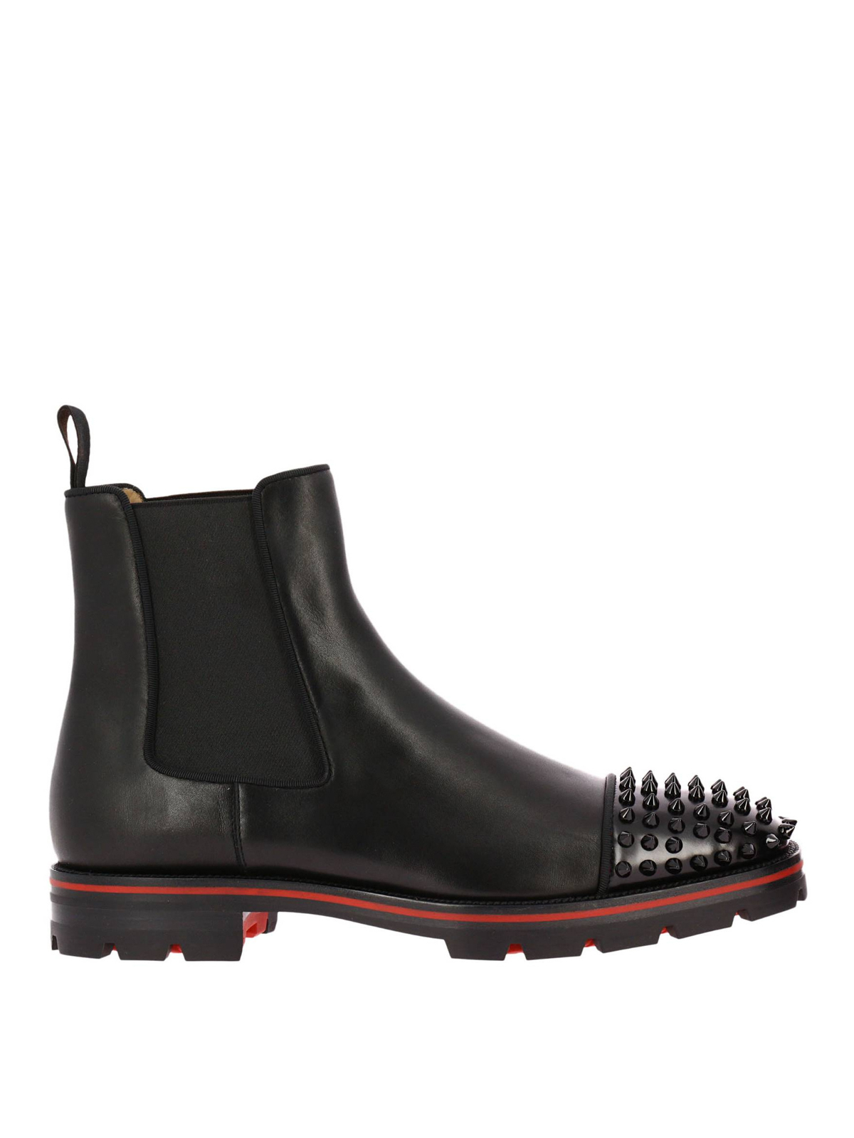 best loved 5e484 fd05a Christian Louboutin - Melon Spikes leather booties - ankle ...