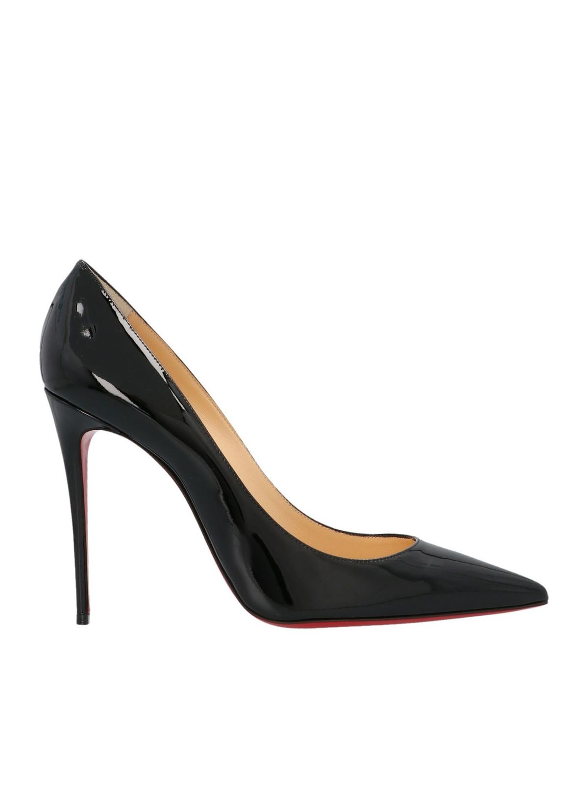 Christian Louboutin KATE 10 PUMPS IN BLACK PATENT LEATHER