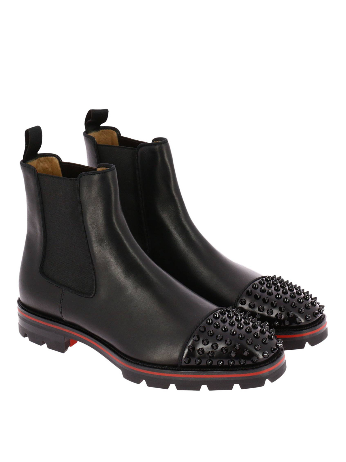 ba848ef75eab CHRISTIAN LOUBOUTIN  ankle boots online - Melon Spikes leather booties