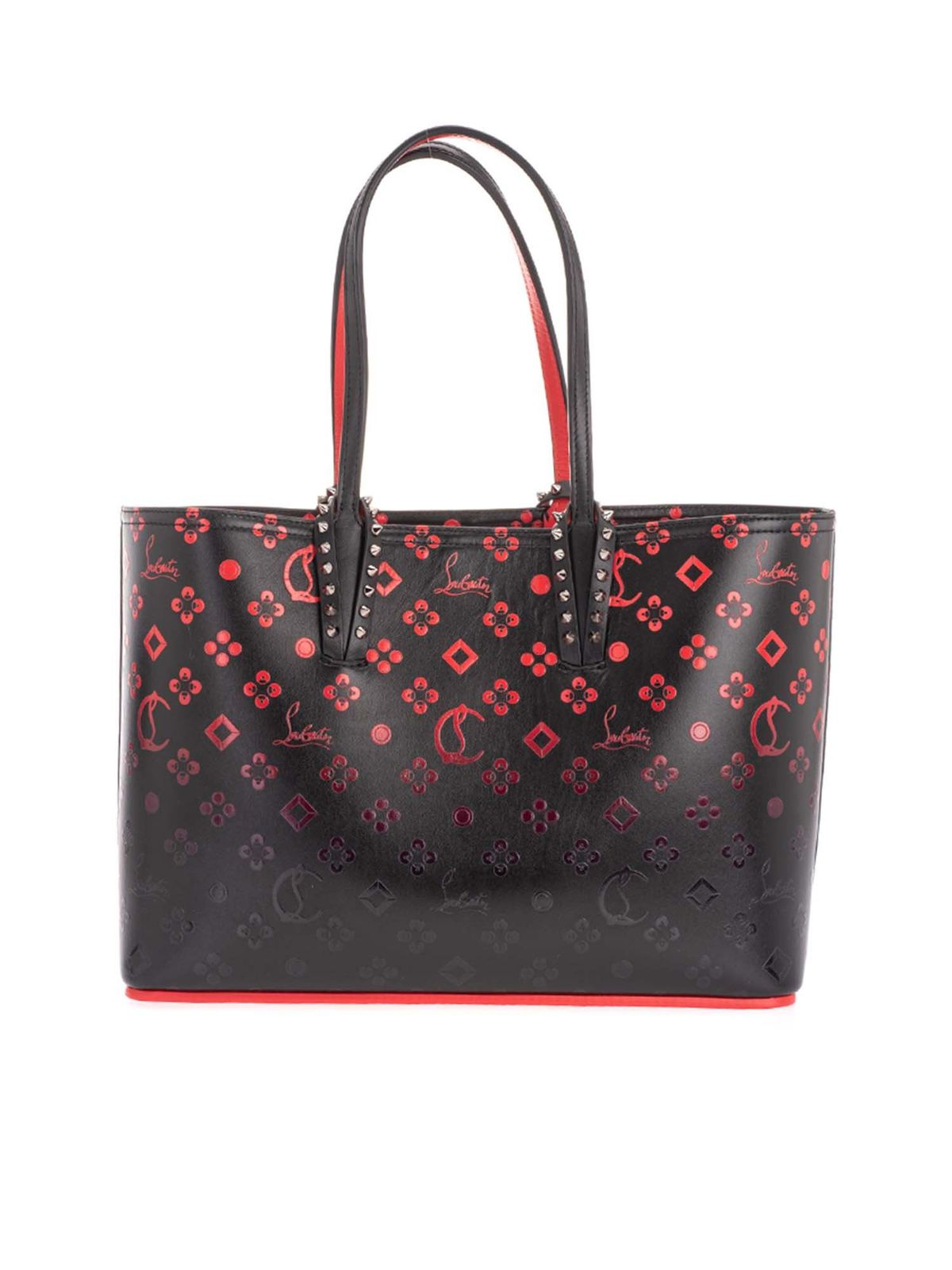 Christian Louboutin CABATA SHOPPER BAG IN BLACK AND RED