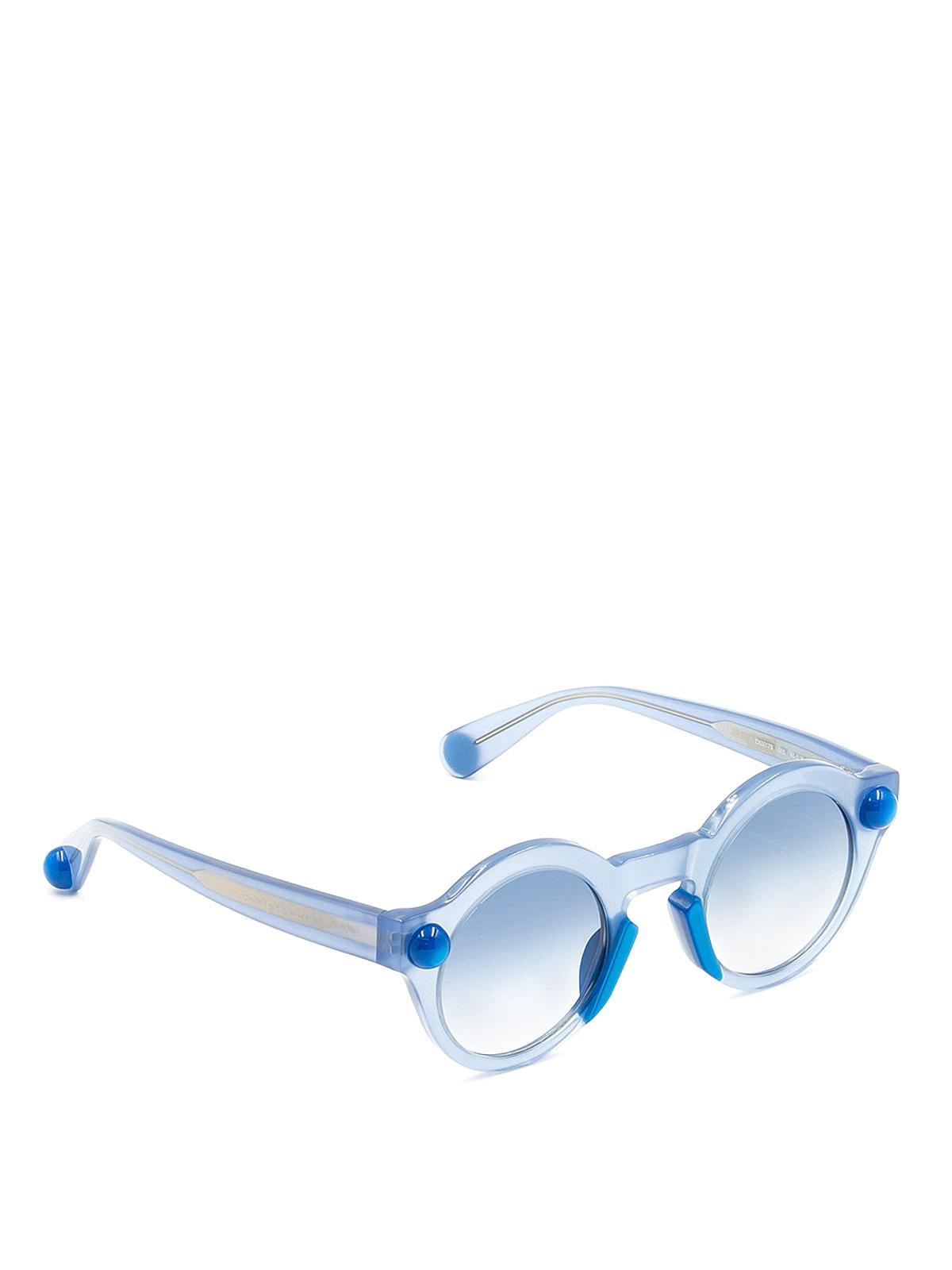f12d81237f23e CHRISTOPHER KANE  Lunettes de soleil - Lunettes De Soleil - Bleu Clair