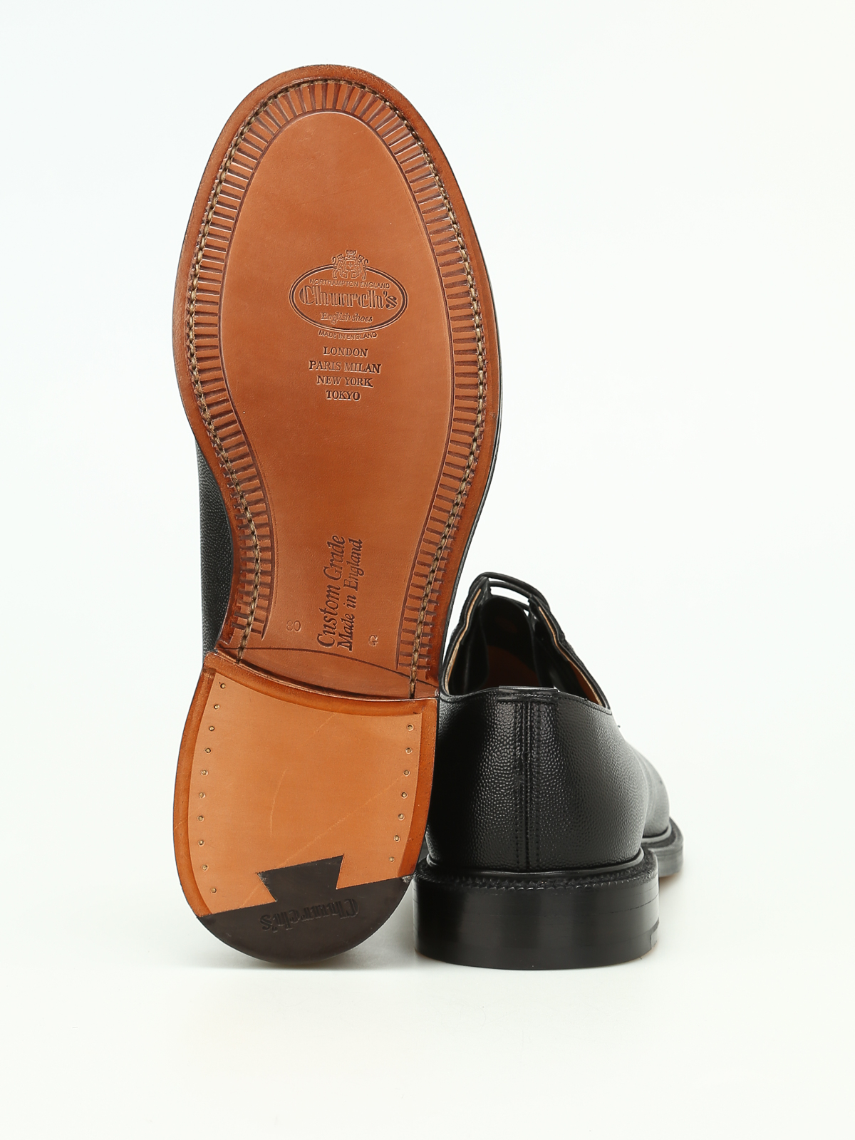 a760e0646f8a6 Church's - Shannon black Derby shoes - classic shoes ...