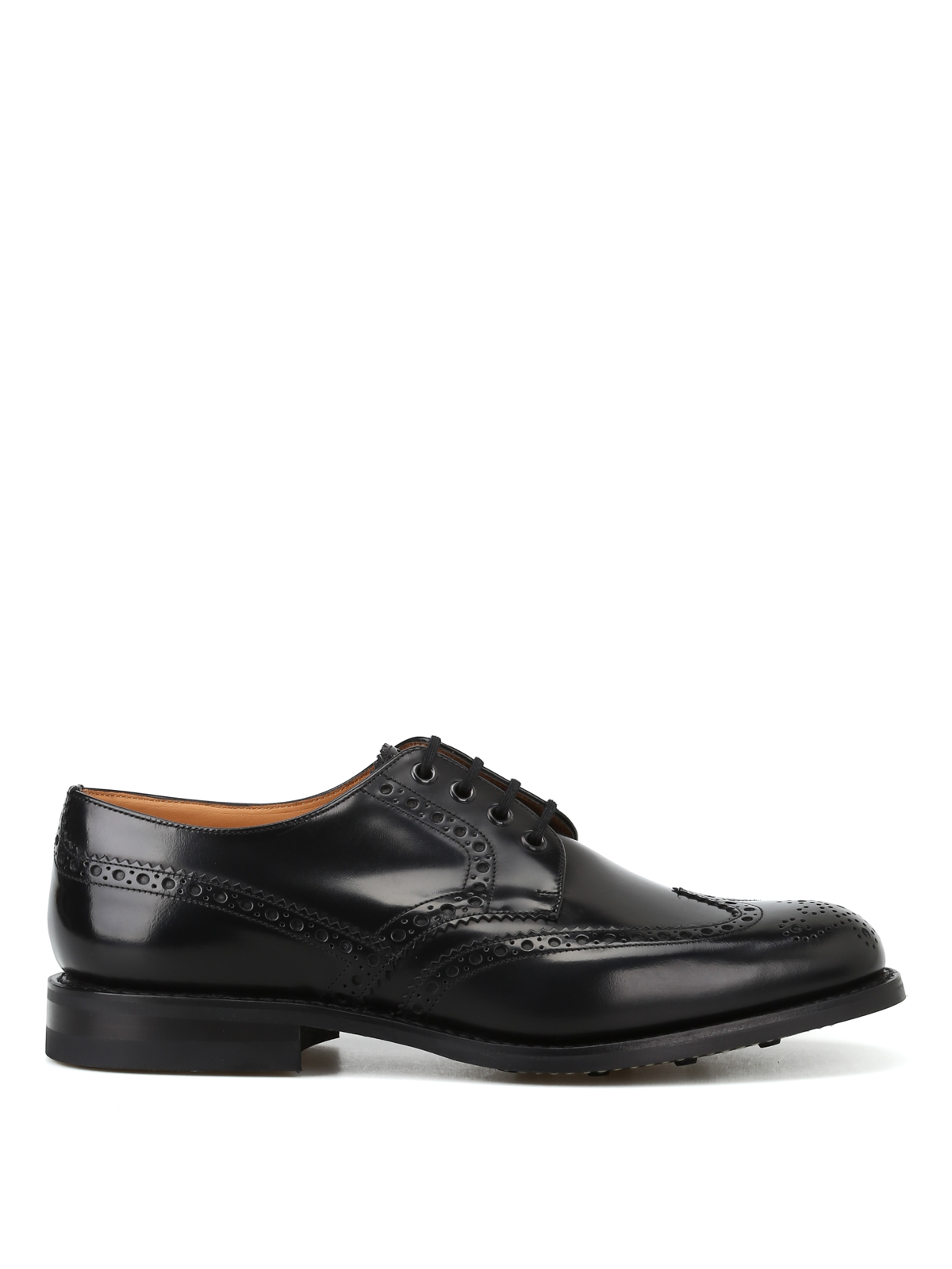 Ups Fumé Ramsden Church's Lace Leather Polished Derby Brogues HqUnzgUO