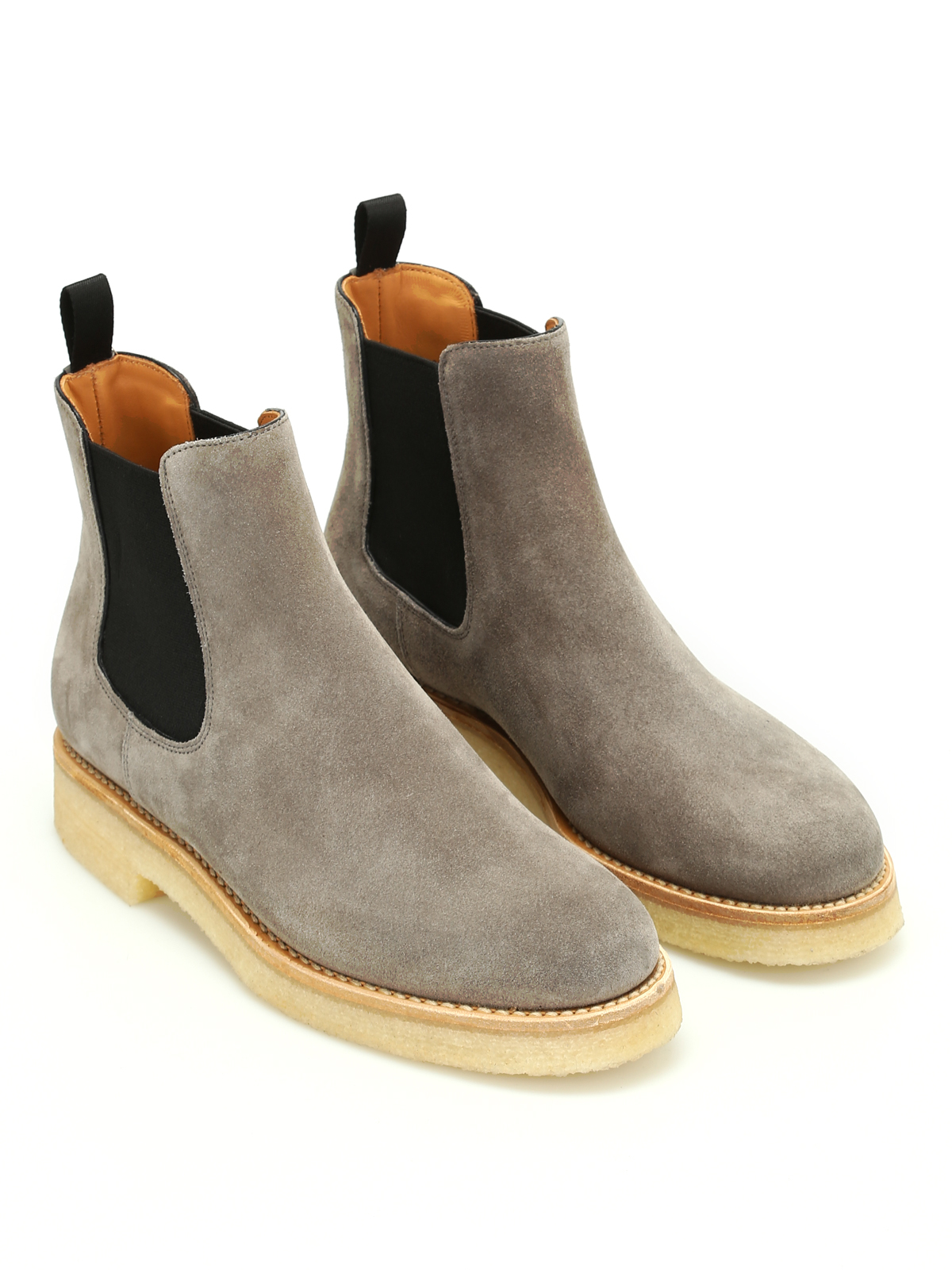 Suede Chelsea boots with crepe sole