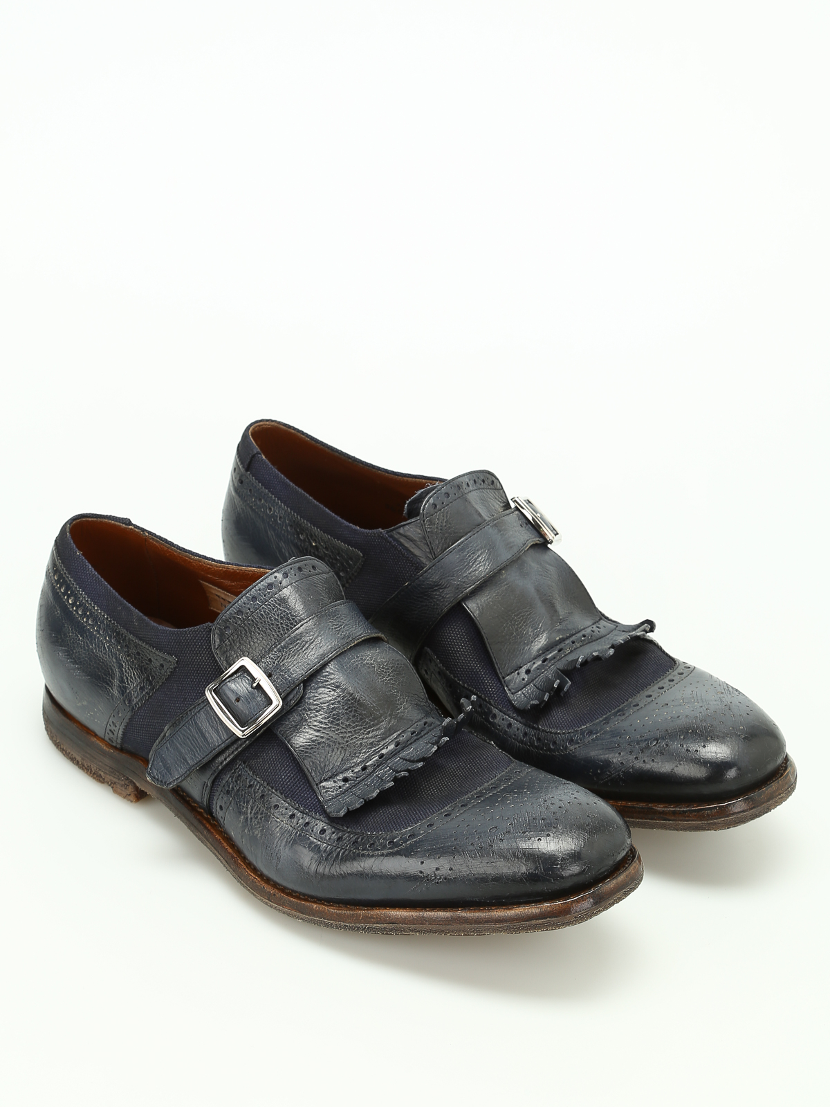 d0bc54f4e30 Church s - Shanghai used leather monk straps - Loafers   Slippers ...