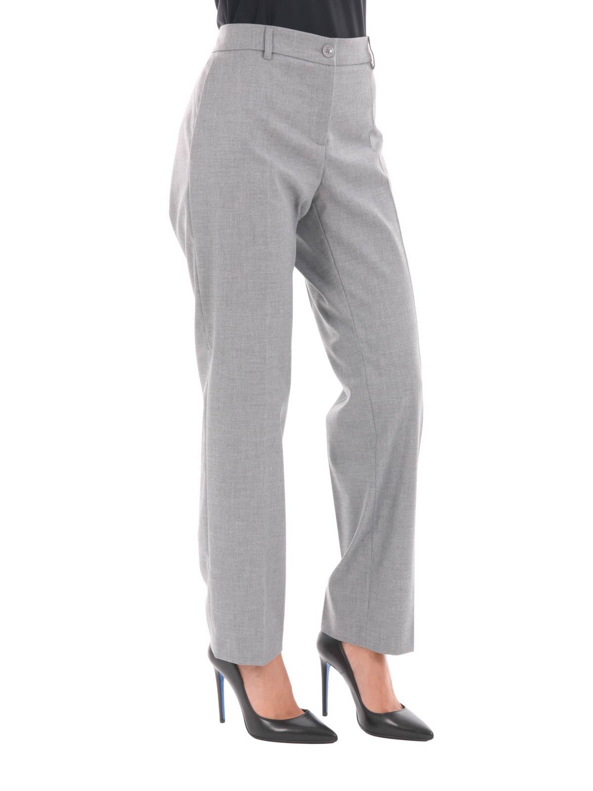 Blugirl Pantalón De Vestir Gris Para Mujer Pantalones De