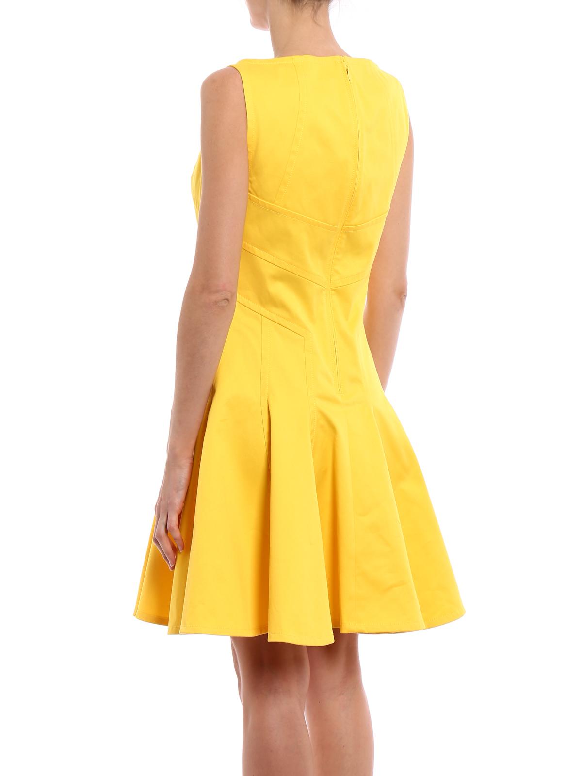 dsquared2 - knielanges kleid - gelb - knielange kleider