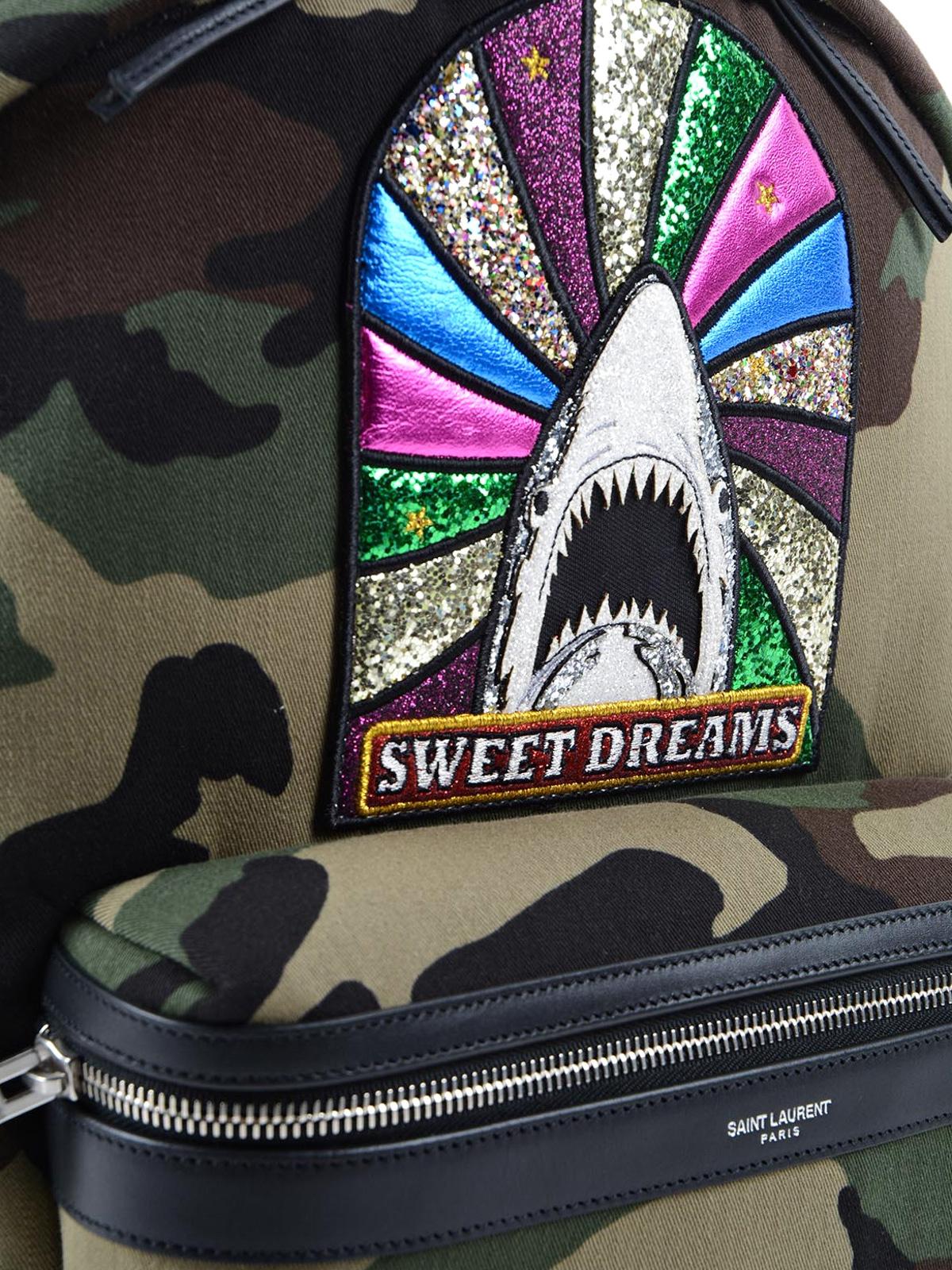 a44a1d96d3 Saint Laurent - City Sweet Dreams patch backpack - backpacks ...