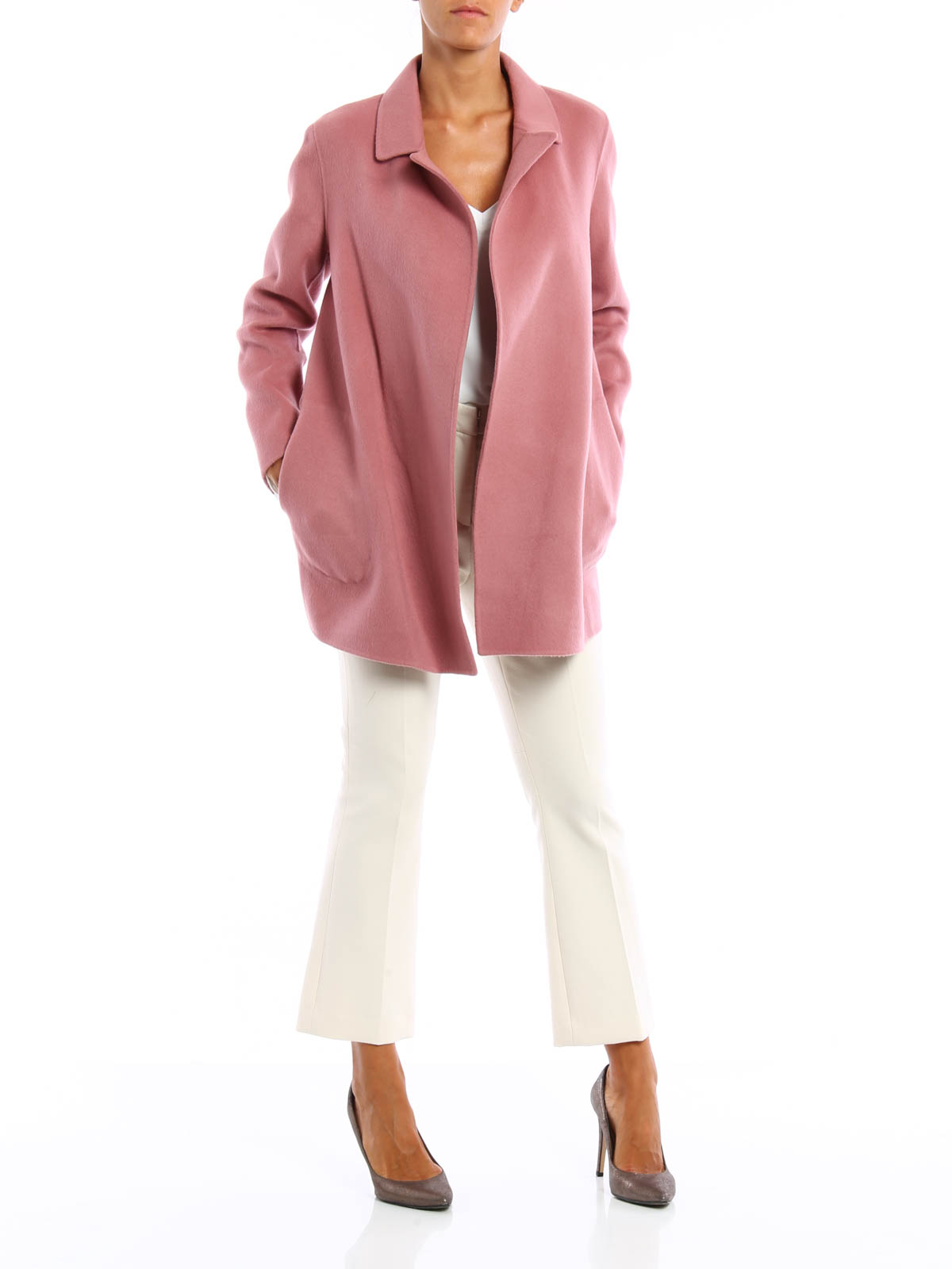 Clairene wool and cashmere coat by Theory - short coats | iKRIX