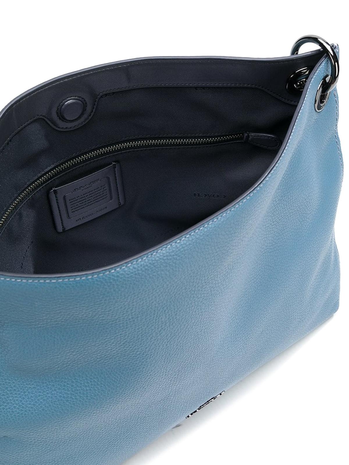 7c3c358378e4 Coach - Clarkson chambray leather hobo bag - shoulder bags - 24947DKCMB