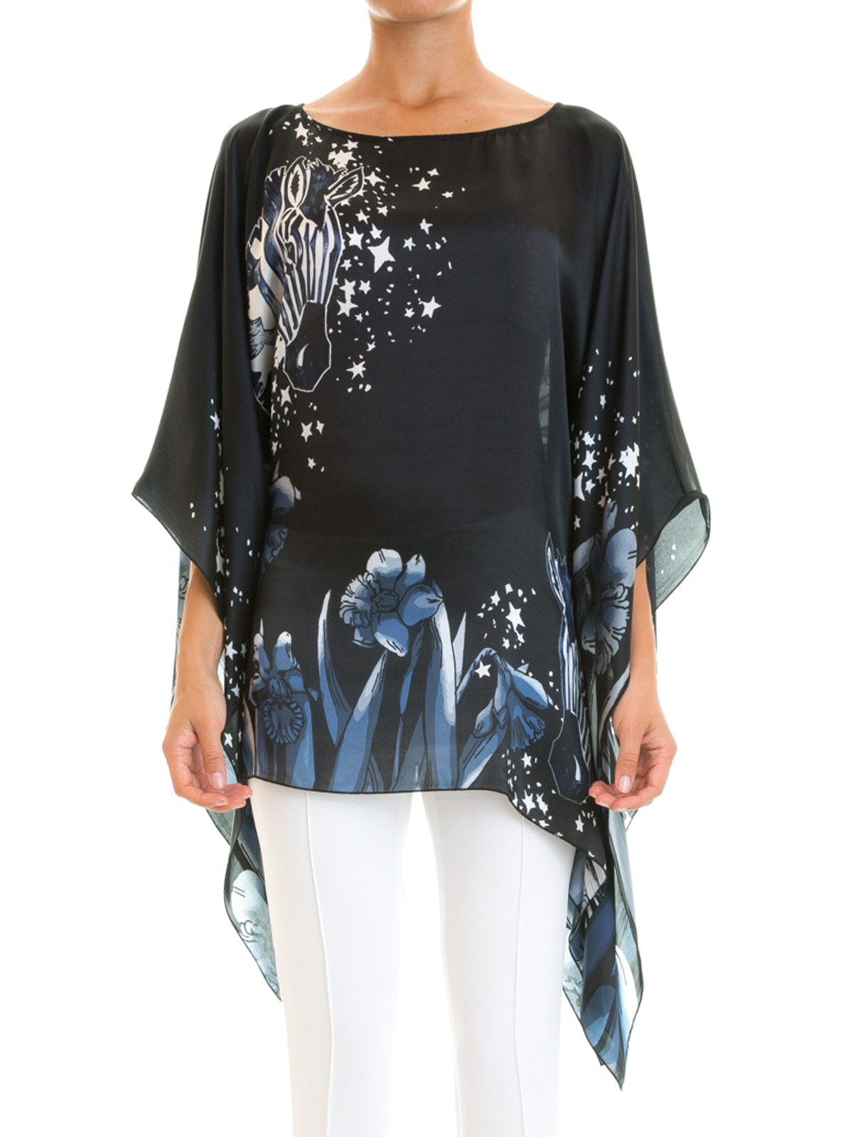 ffa48b188b7b4 Class Roberto Cavalli  blouses online - Fantasy print silk caftan blouse