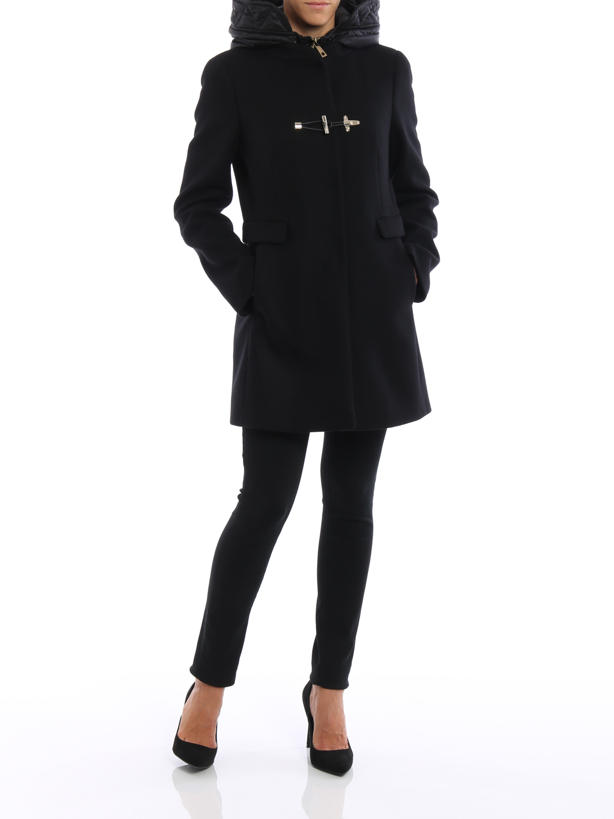 4e555a1e2d Fay - Classic double front duffle coat - short coats ...