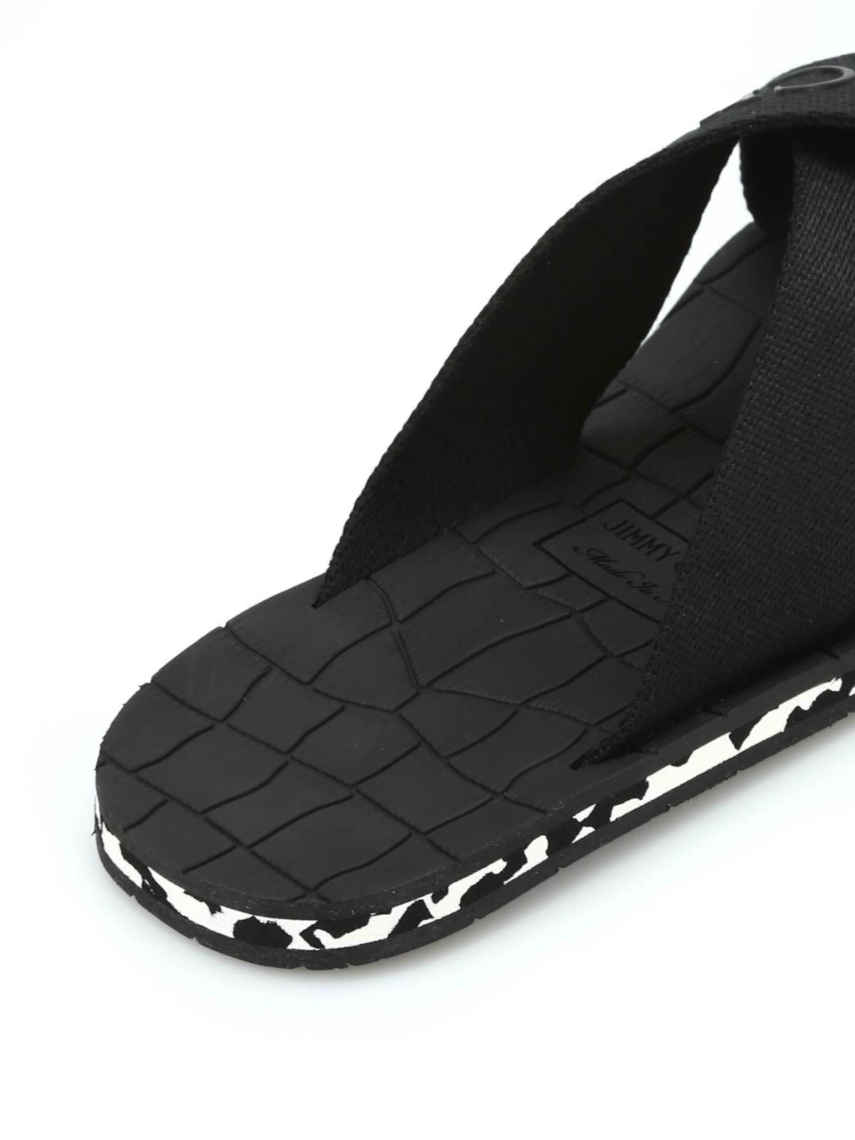 a7f19798c33 Jimmy Choo - Clive grosgrain sandals - sandals - CLIVE GGU BLACK