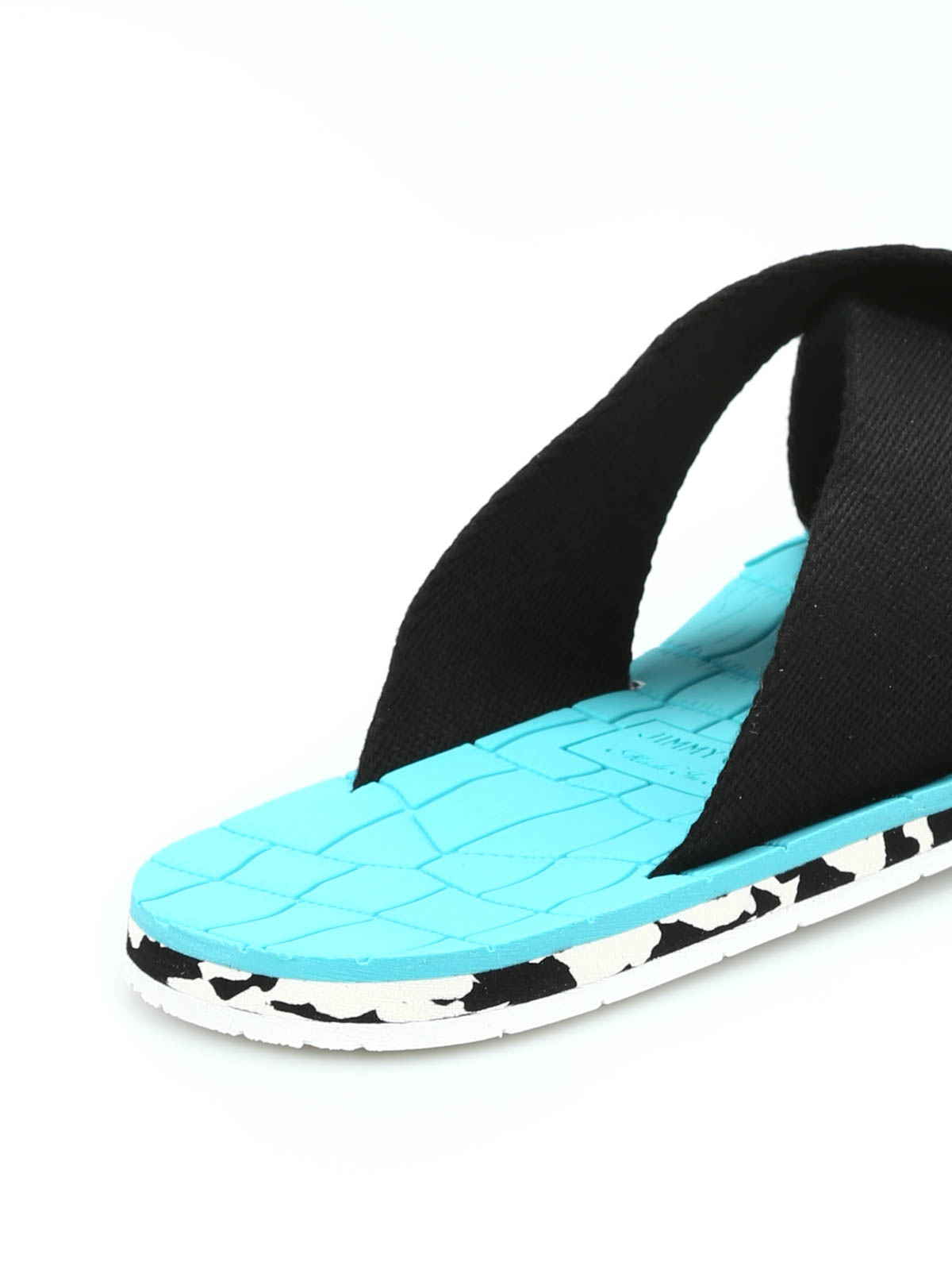 54561dcc112 Jimmy Choo - Clive grosgrain sandals - sandals - CLIVE GGU BLACK/MALIBU