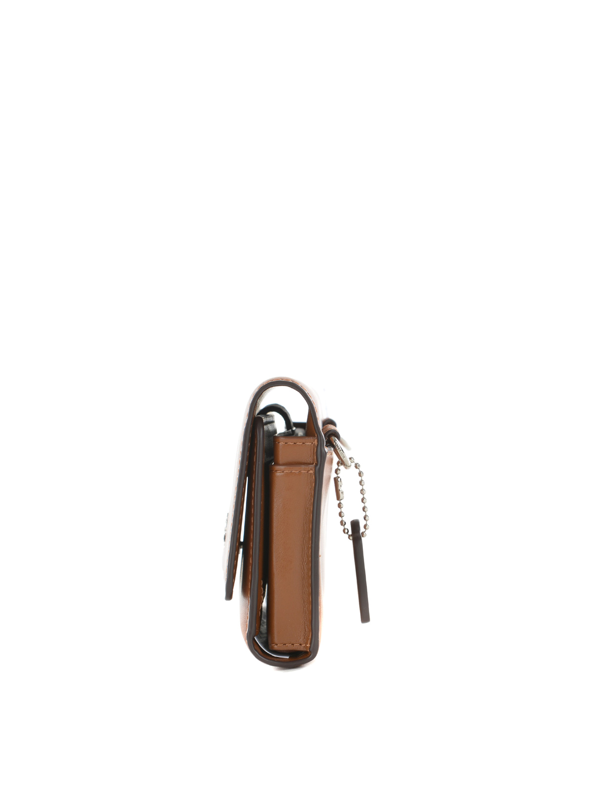 sale retailer b0723 bab02 Coach - Nappa wallet and phone case - cross body bags - 65558 SV SADDLE