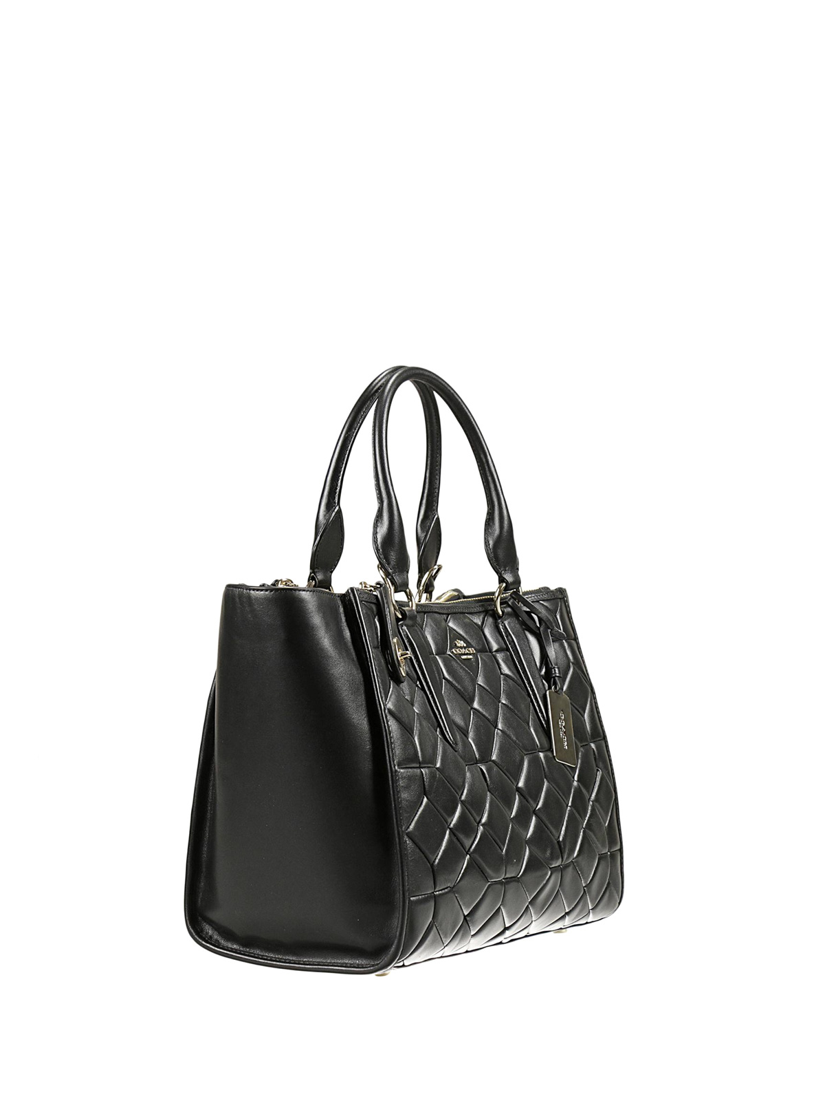 608c94fc6c Coach - Crosby Carryall quilted leather bag - totes bags - 37486 BLACK