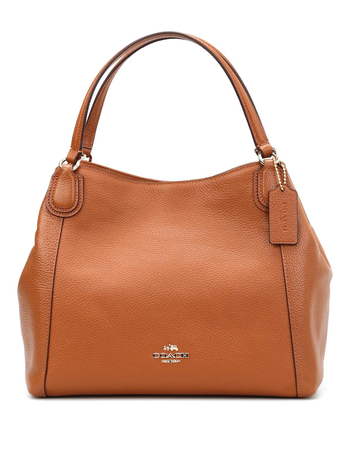 Coach - Pebble leather Edie shoulder bag - shoulder bags ...