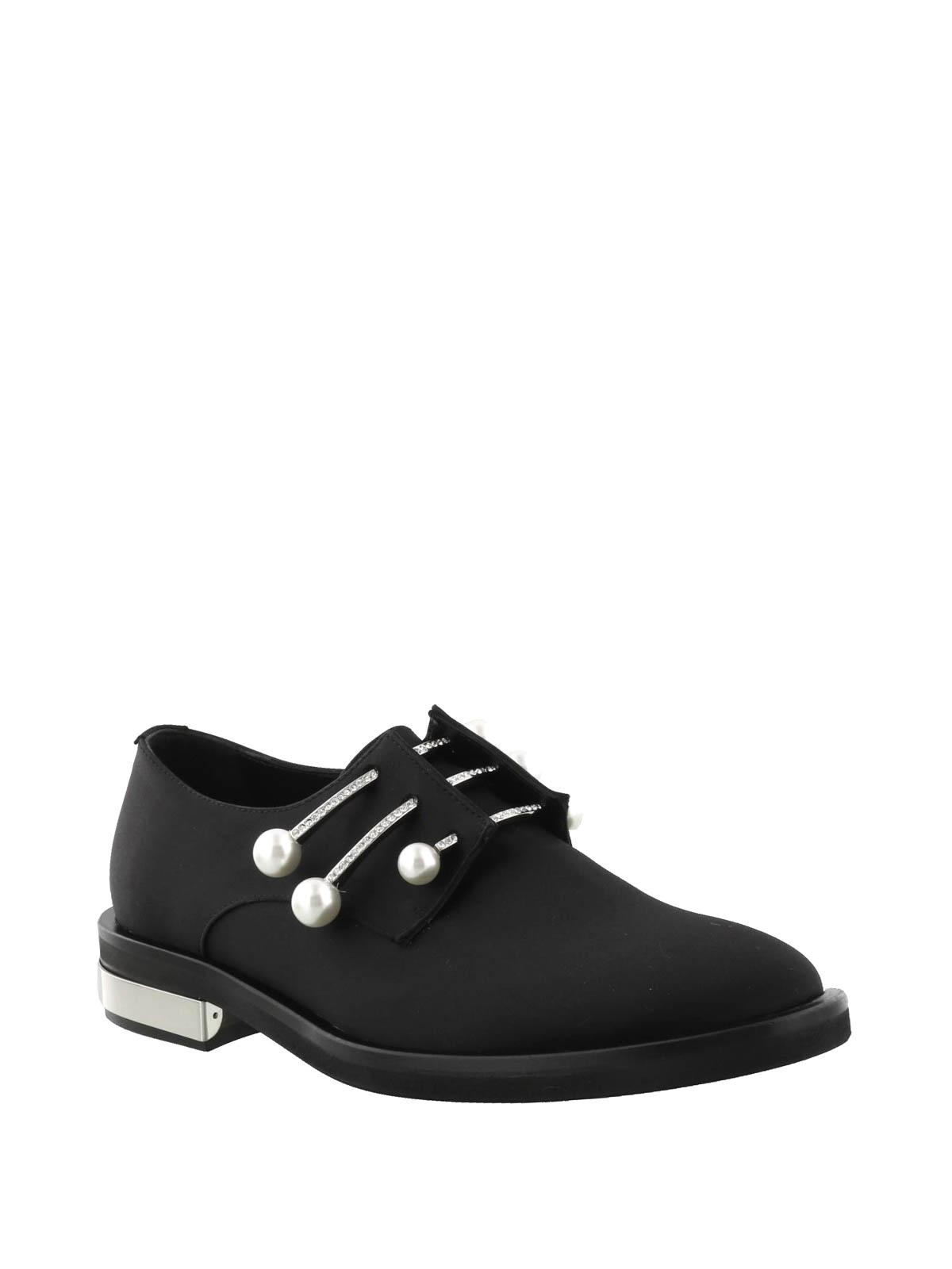 bd7bbdb5bc Coliac - Fernanda black satin Derby shoes - lace-ups shoes - CL602BLACK
