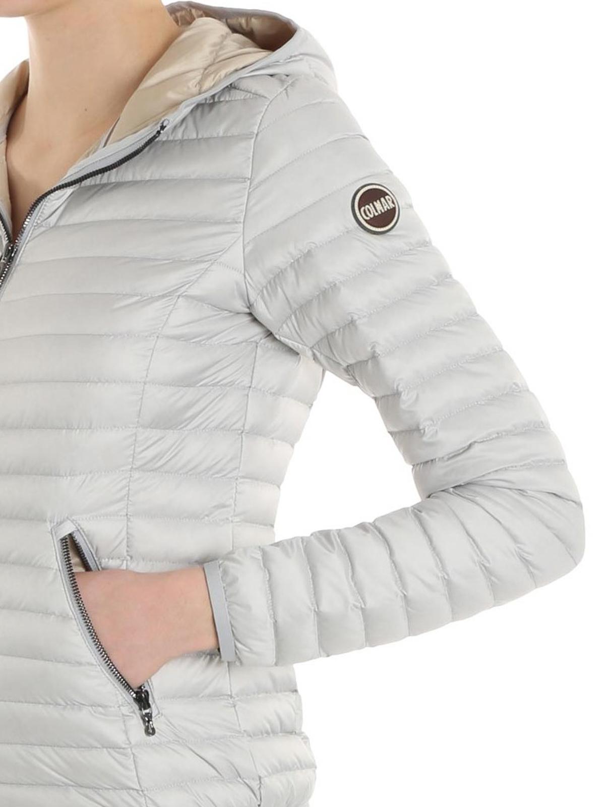 buy popular 71ed1 4b7a8 Colmar Originals - Piumino grigio perla con cappuccio ...